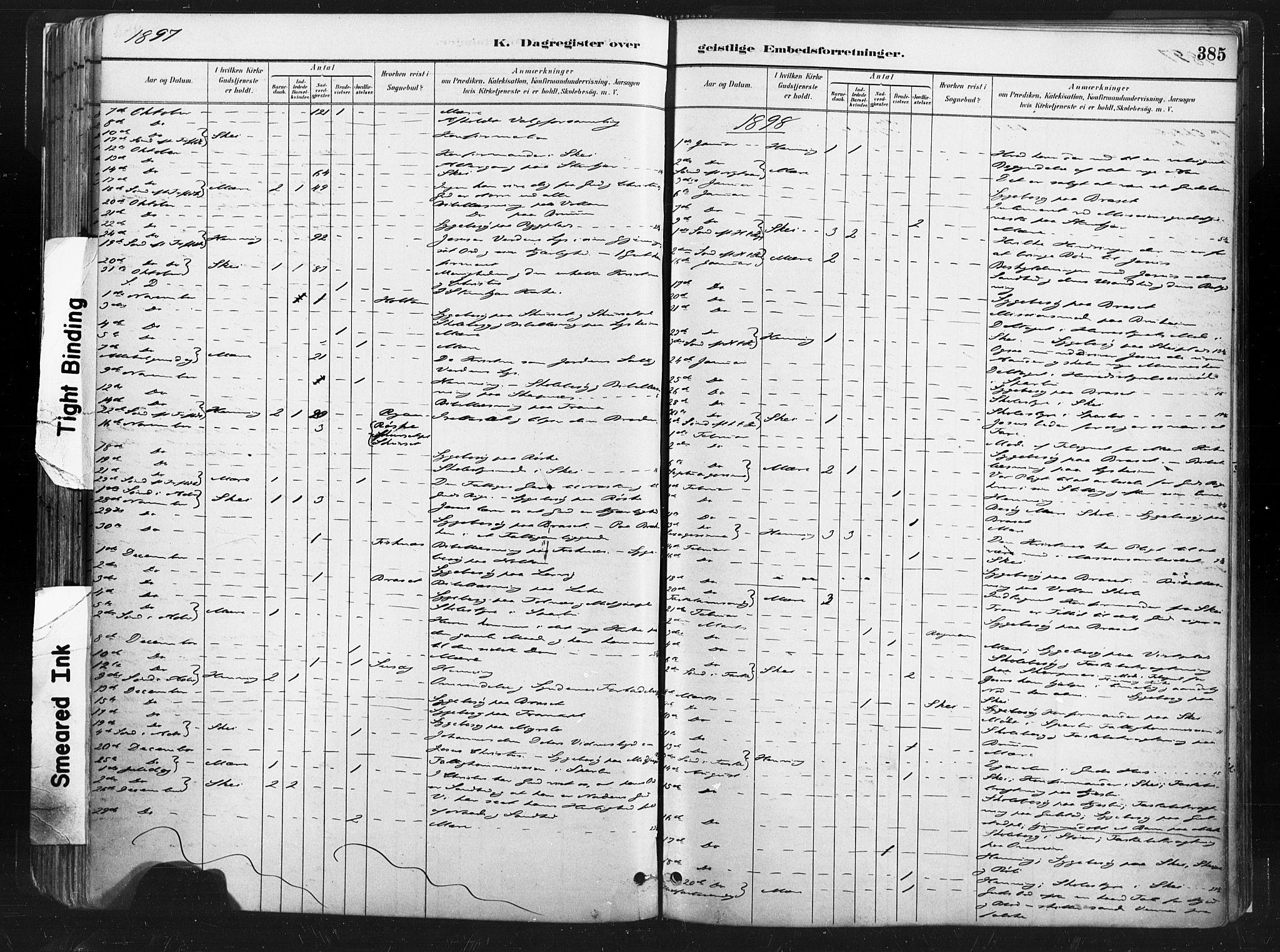 SAT, Ministerialprotokoller, klokkerbøker og fødselsregistre - Nord-Trøndelag, 735/L0351: Ministerialbok nr. 735A10, 1884-1908, s. 385