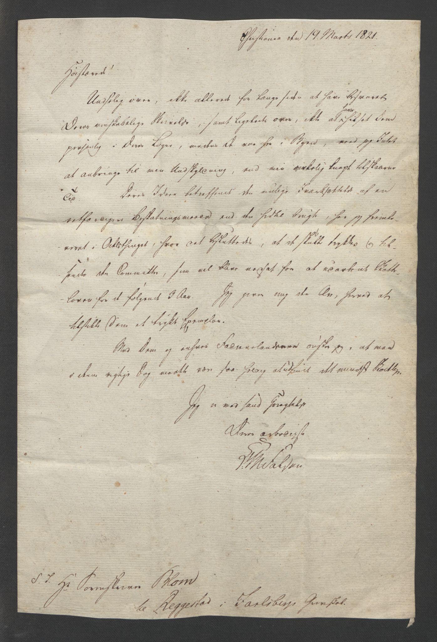 RA, Blom, Gustav Peter, F/L0002: Transkripsjoner, brev og manuskript, s. 3