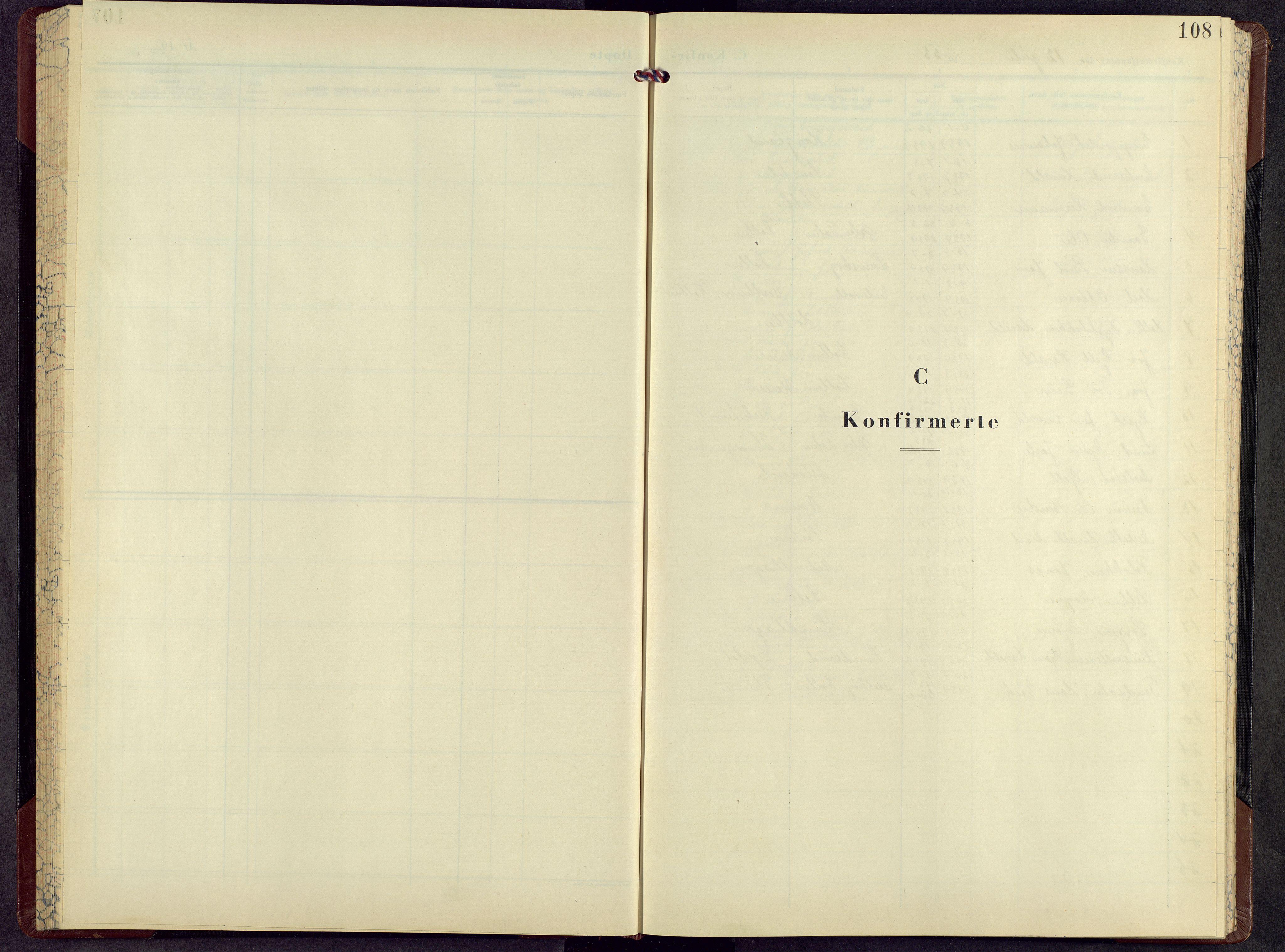 SAH, Kolbu prestekontor, Klokkerbok nr. 5, 1953-1966, s. 108