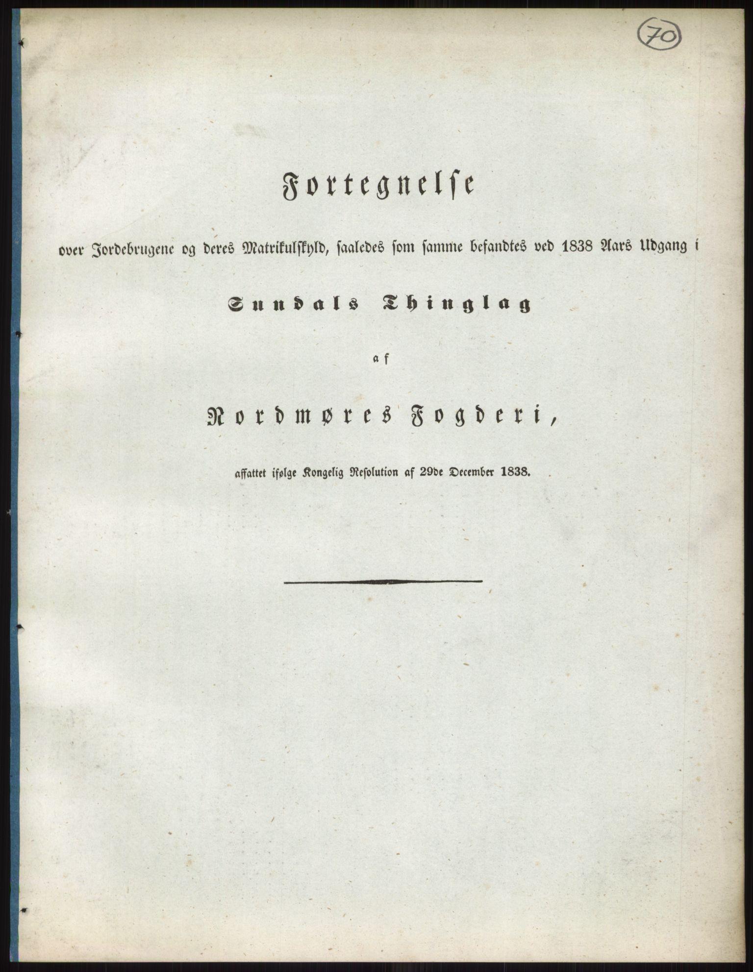 RA, 1838-matrikkelen (publikasjon)*, 1838, s. 70