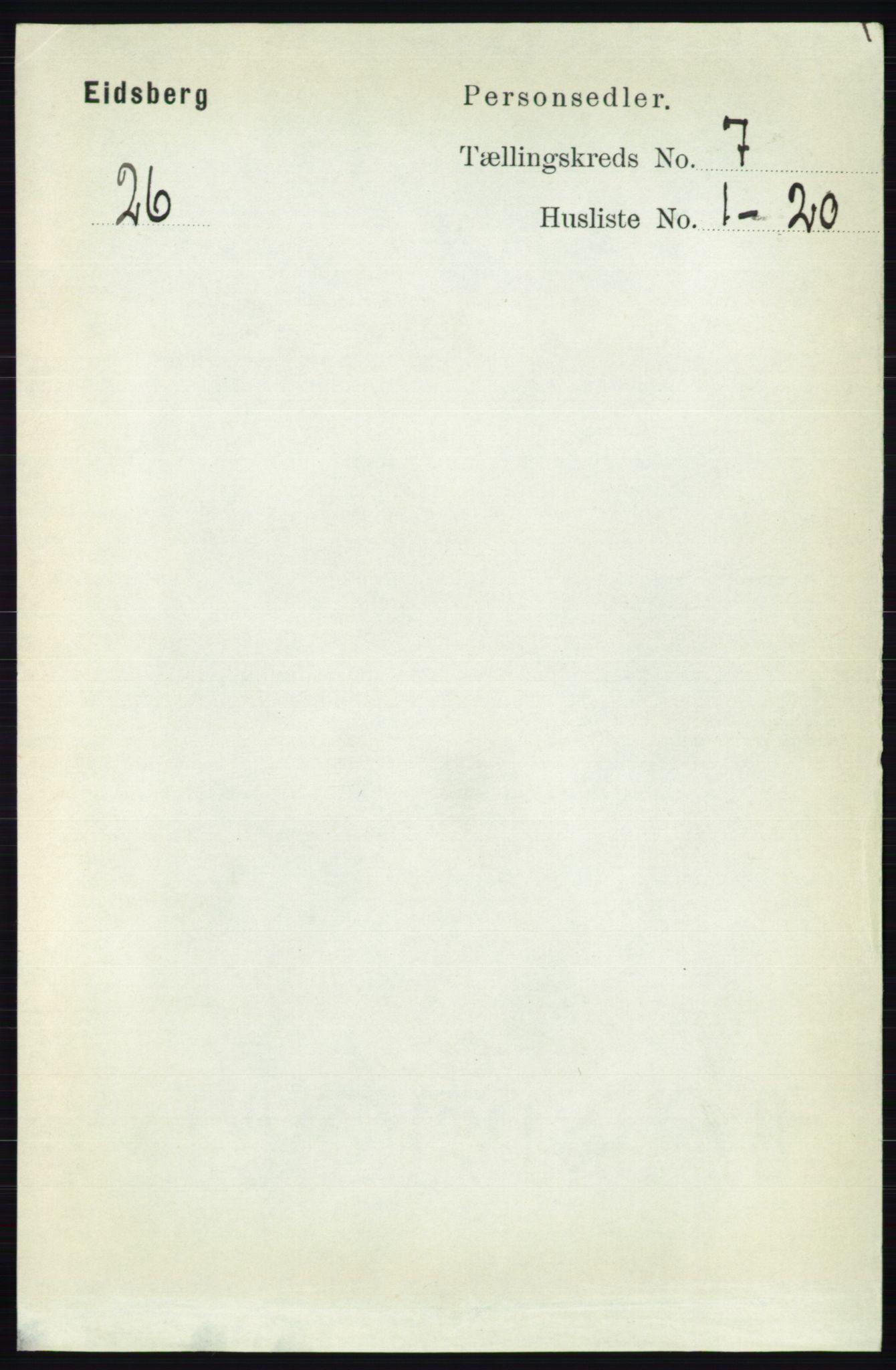 RA, Folketelling 1891 for 0125 Eidsberg herred, 1891, s. 4103