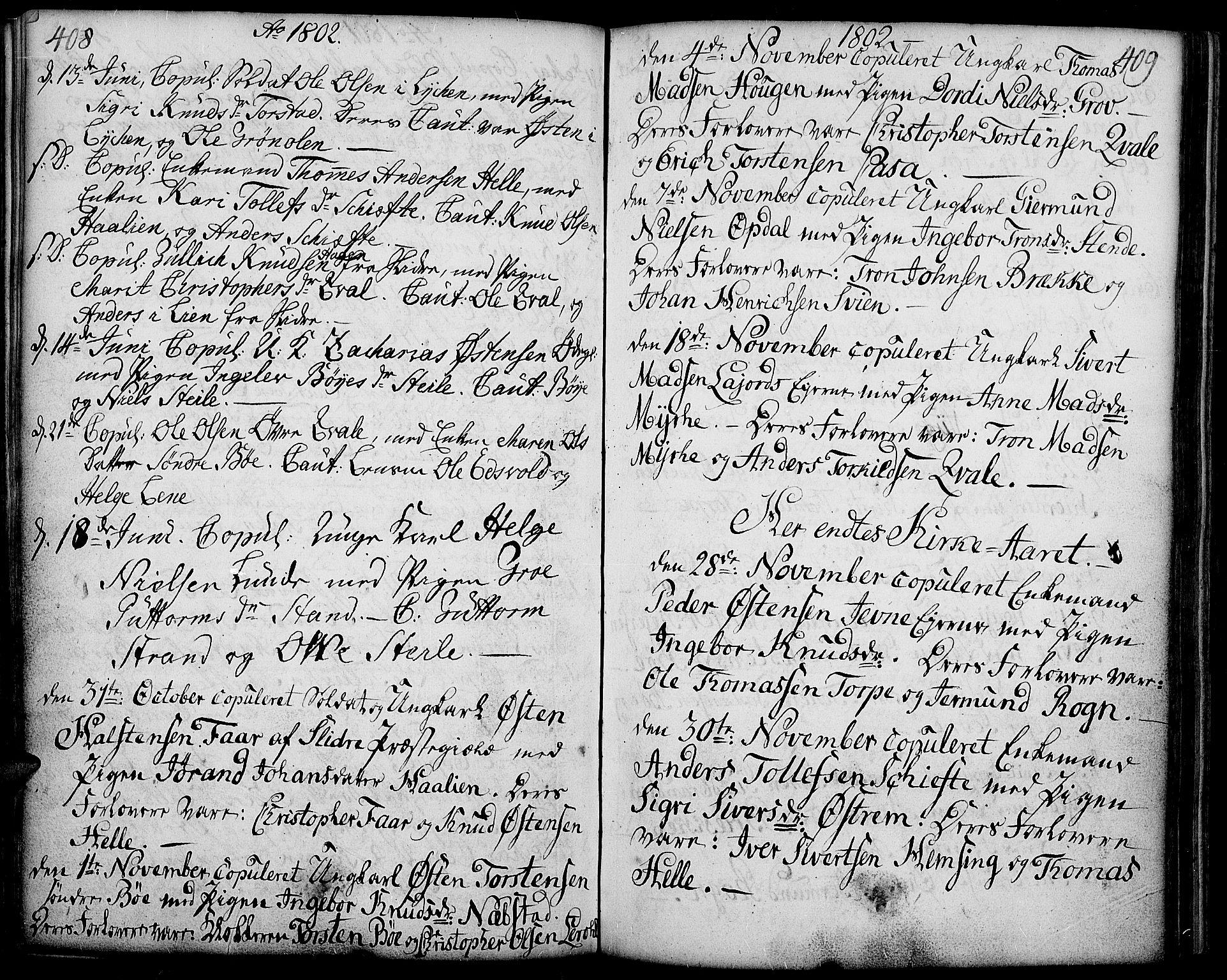 SAH, Vang prestekontor, Valdres, Ministerialbok nr. 2, 1796-1808, s. 408-409