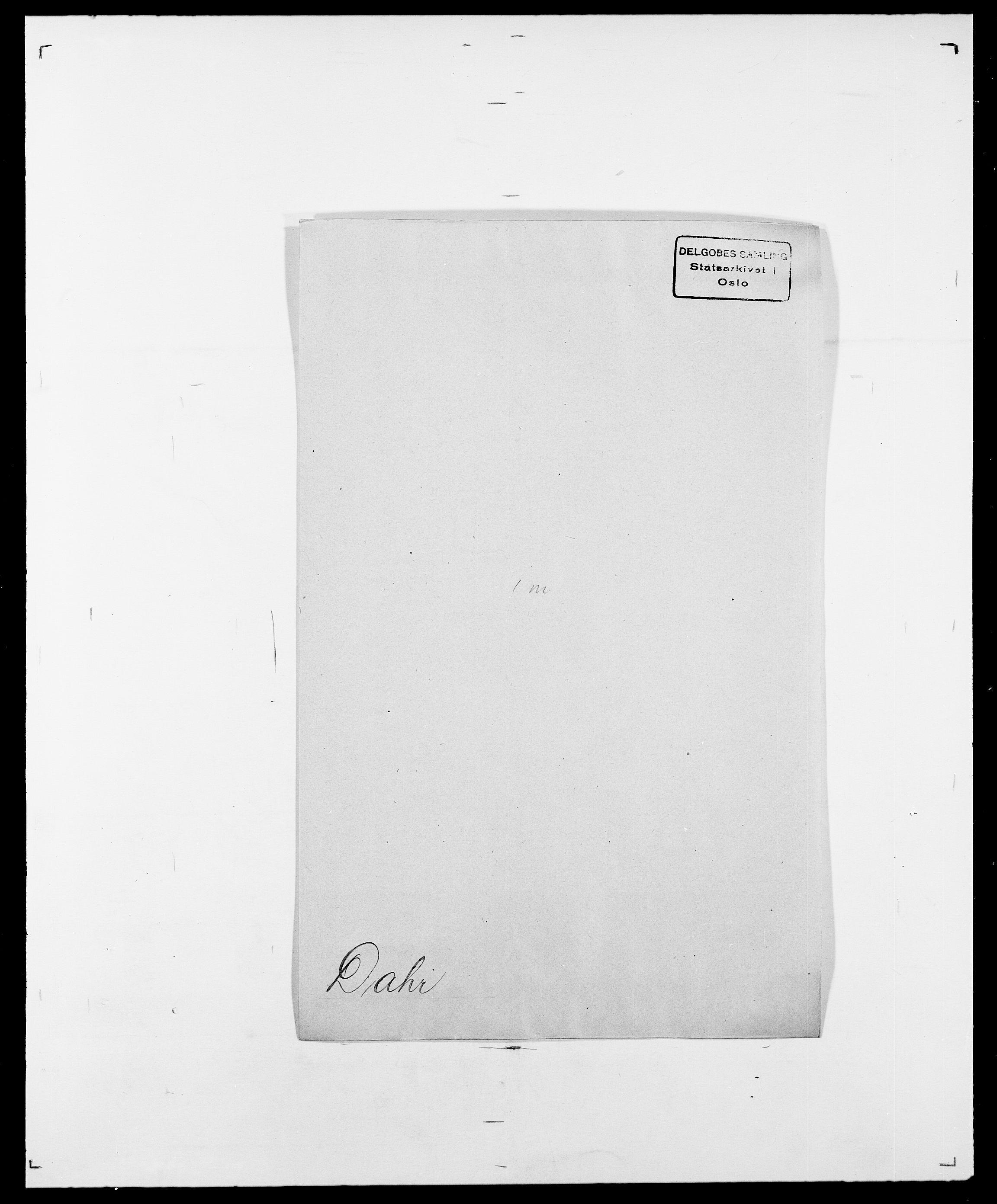 SAO, Delgobe, Charles Antoine - samling, D/Da/L0009: Dahl - v. Düren, s. 242