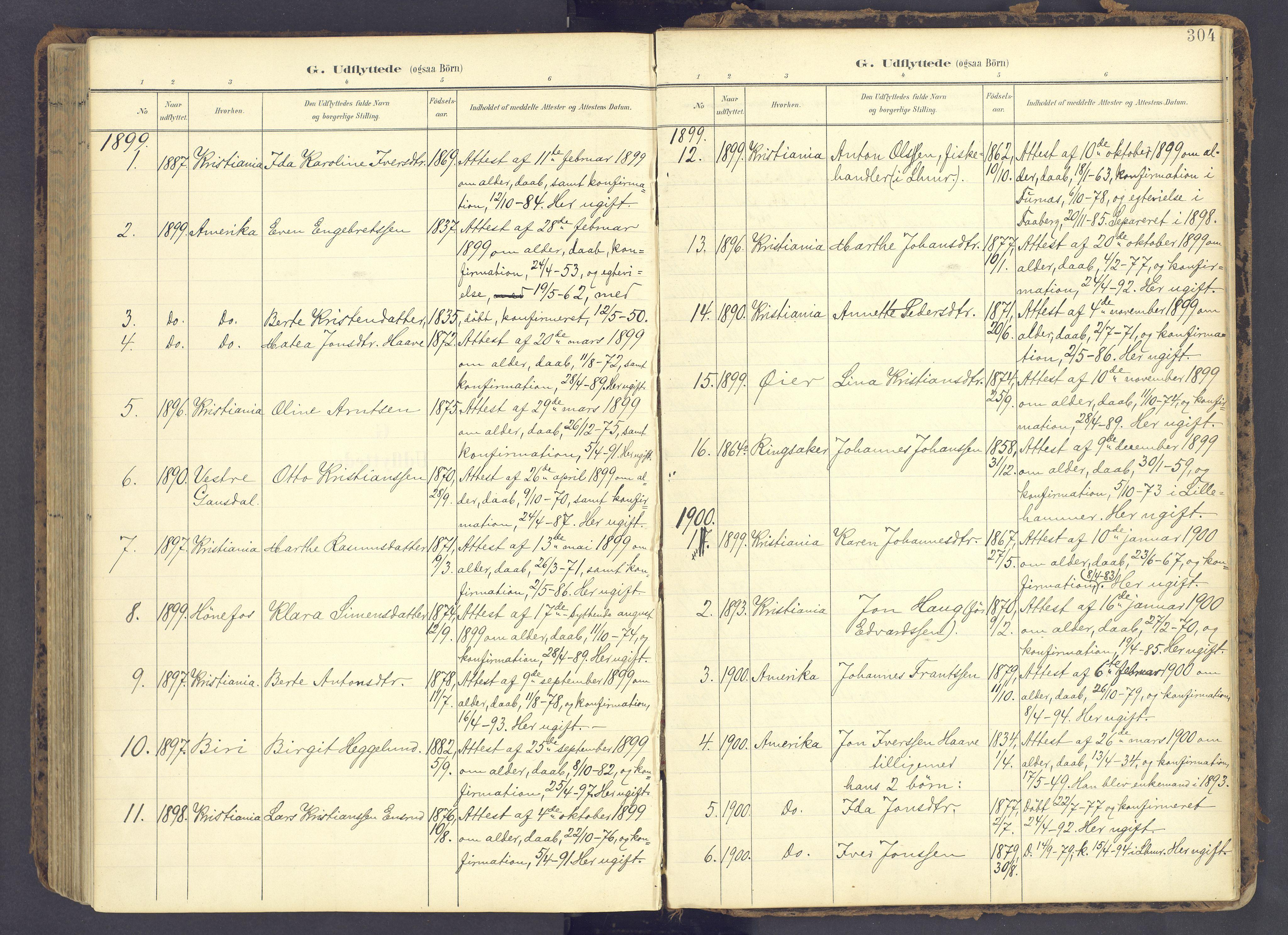 SAH, Fåberg prestekontor, Ministerialbok nr. 12, 1899-1915, s. 304