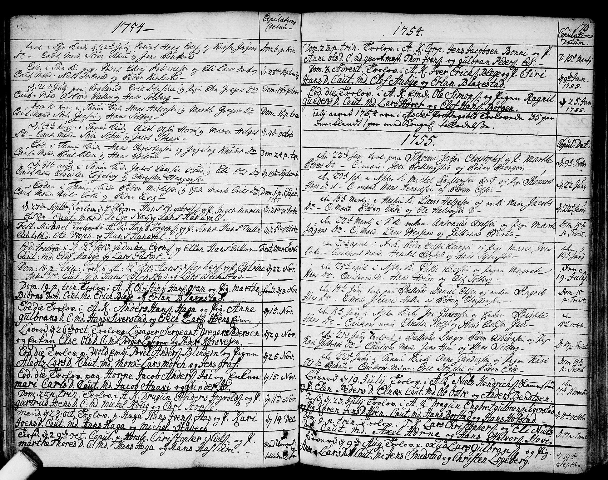 SAO, Asker prestekontor Kirkebøker, F/Fa/L0002: Ministerialbok nr. I 2, 1733-1766, s. 170