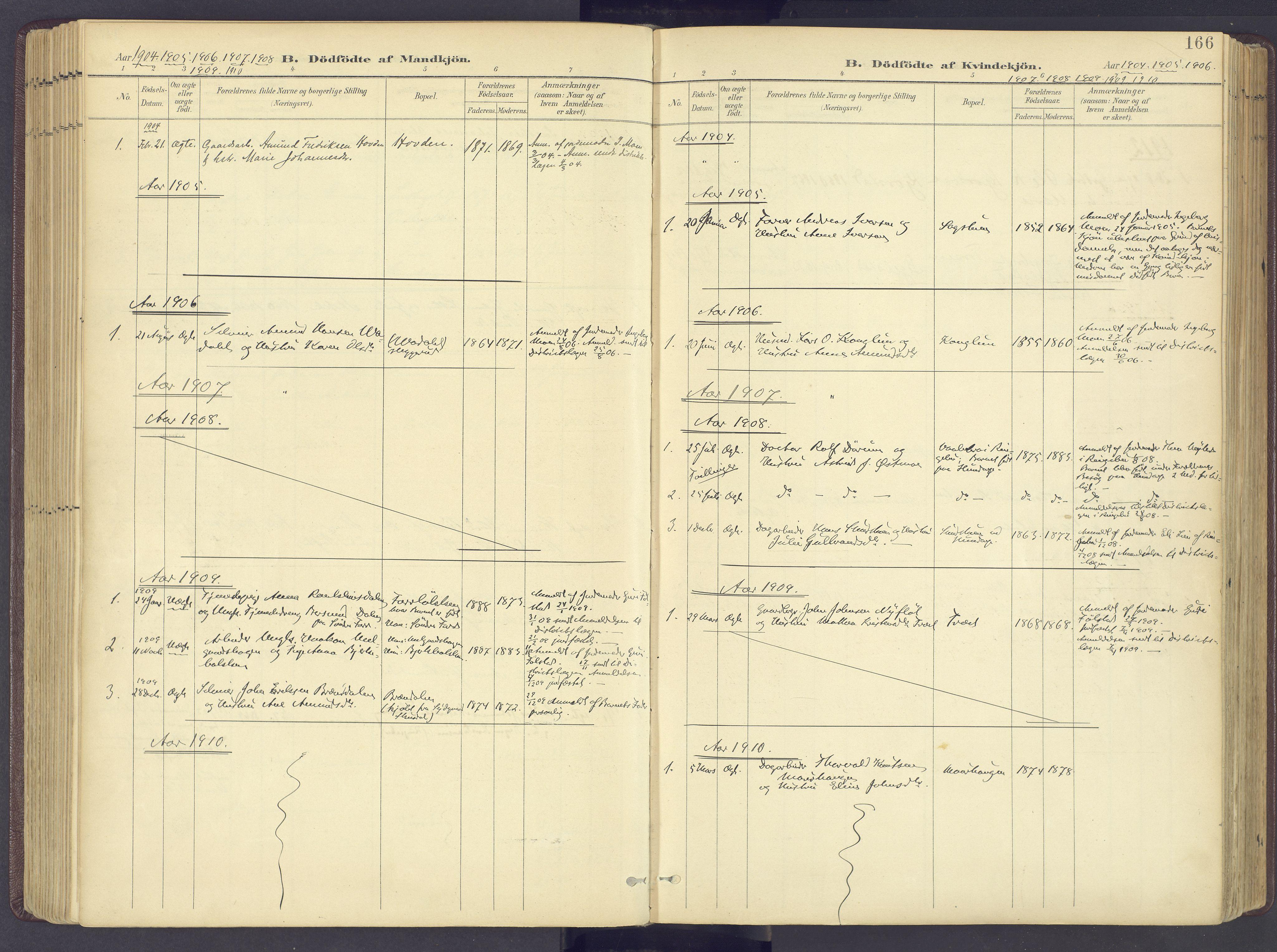 SAH, Sør-Fron prestekontor, H/Ha/Haa/L0004: Ministerialbok nr. 4, 1898-1919, s. 166