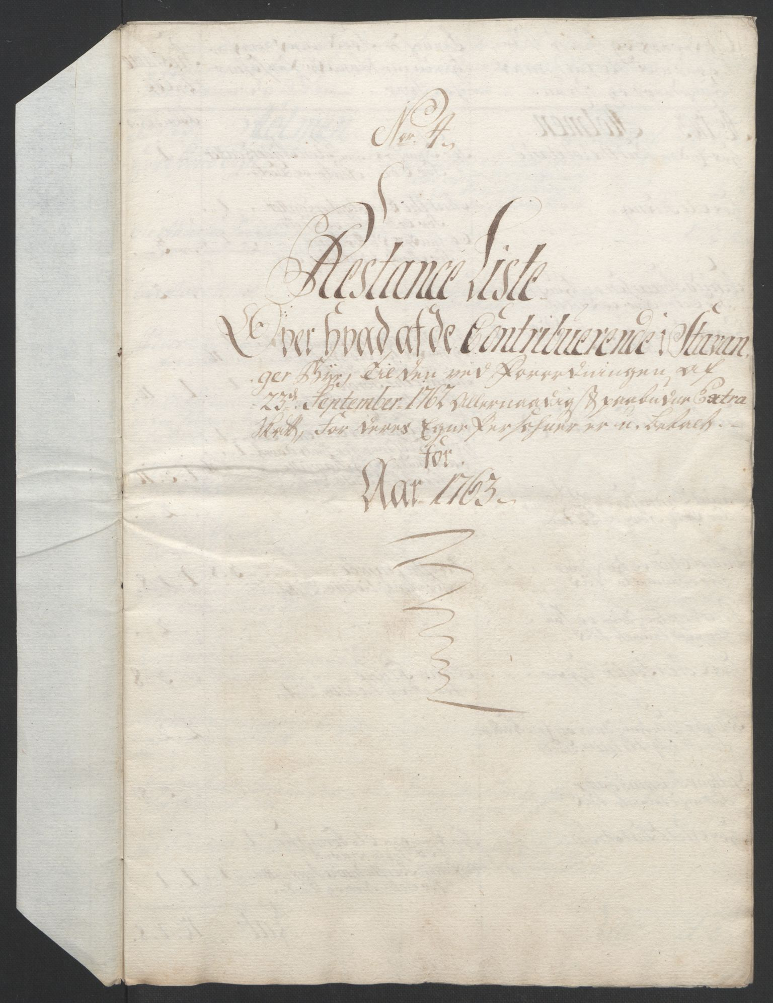 RA, Rentekammeret inntil 1814, Realistisk ordnet avdeling, Ol/L0015: [Gg 10]: Ekstraskatten, 23.09.1762. Stavanger by, Jæren og Dalane, Bergen, 1762-1764, s. 73