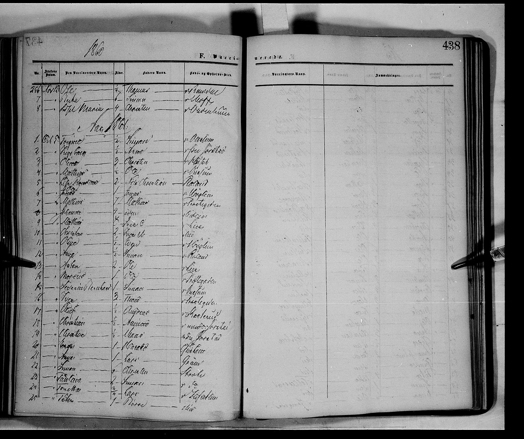 SAH, Fåberg prestekontor, Ministerialbok nr. 6B, 1855-1867, s. 438