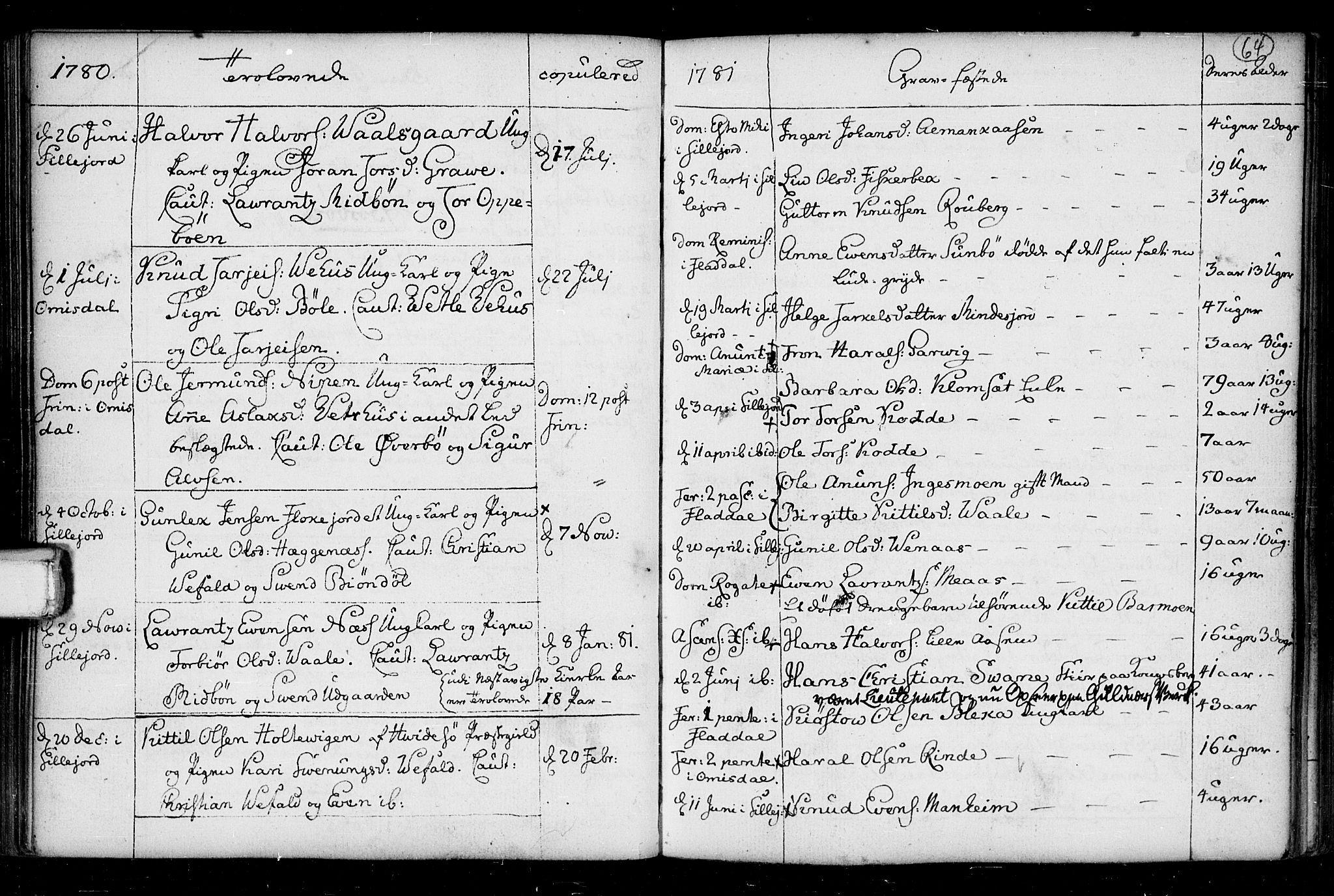 SAKO, Seljord kirkebøker, F/Fa/L0008: Ministerialbok nr. I 8, 1755-1814, s. 64