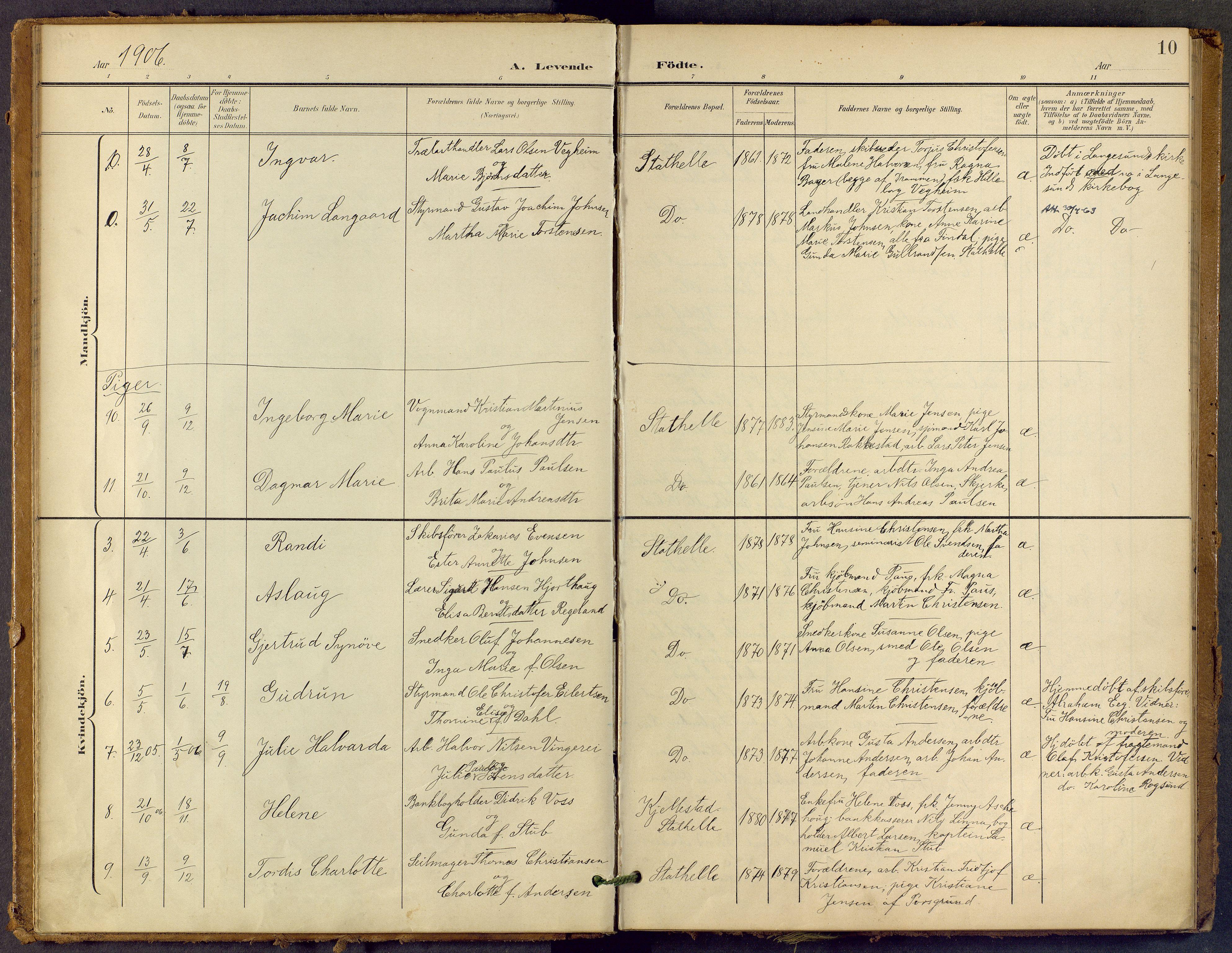 SAKO, Bamble kirkebøker, F/Fb/L0002: Ministerialbok nr. II 2, 1900-1921, s. 10