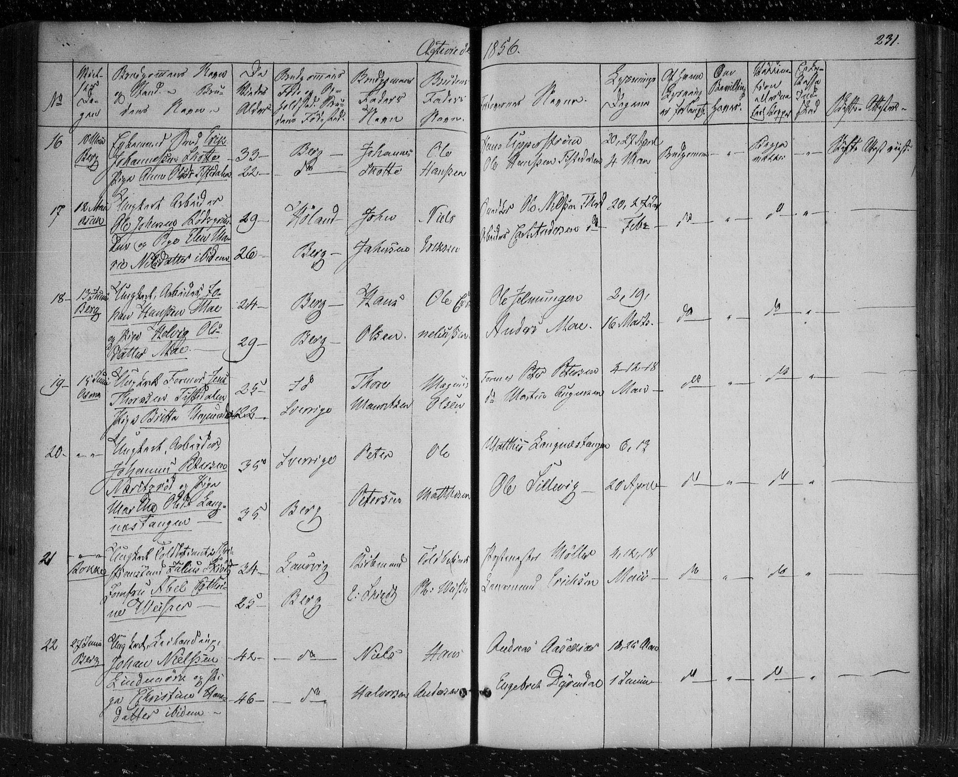 SAO, Berg prestekontor Kirkebøker, F/Fa/L0004: Ministerialbok nr. I 4, 1843-1860, s. 231