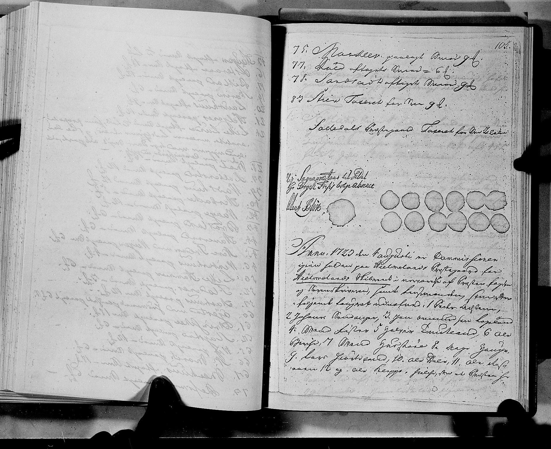 RA, Rentekammeret inntil 1814, Realistisk ordnet avdeling, N/Nb/Nbf/L0133a: Ryfylke eksaminasjonsprotokoll, 1723, s. 105a