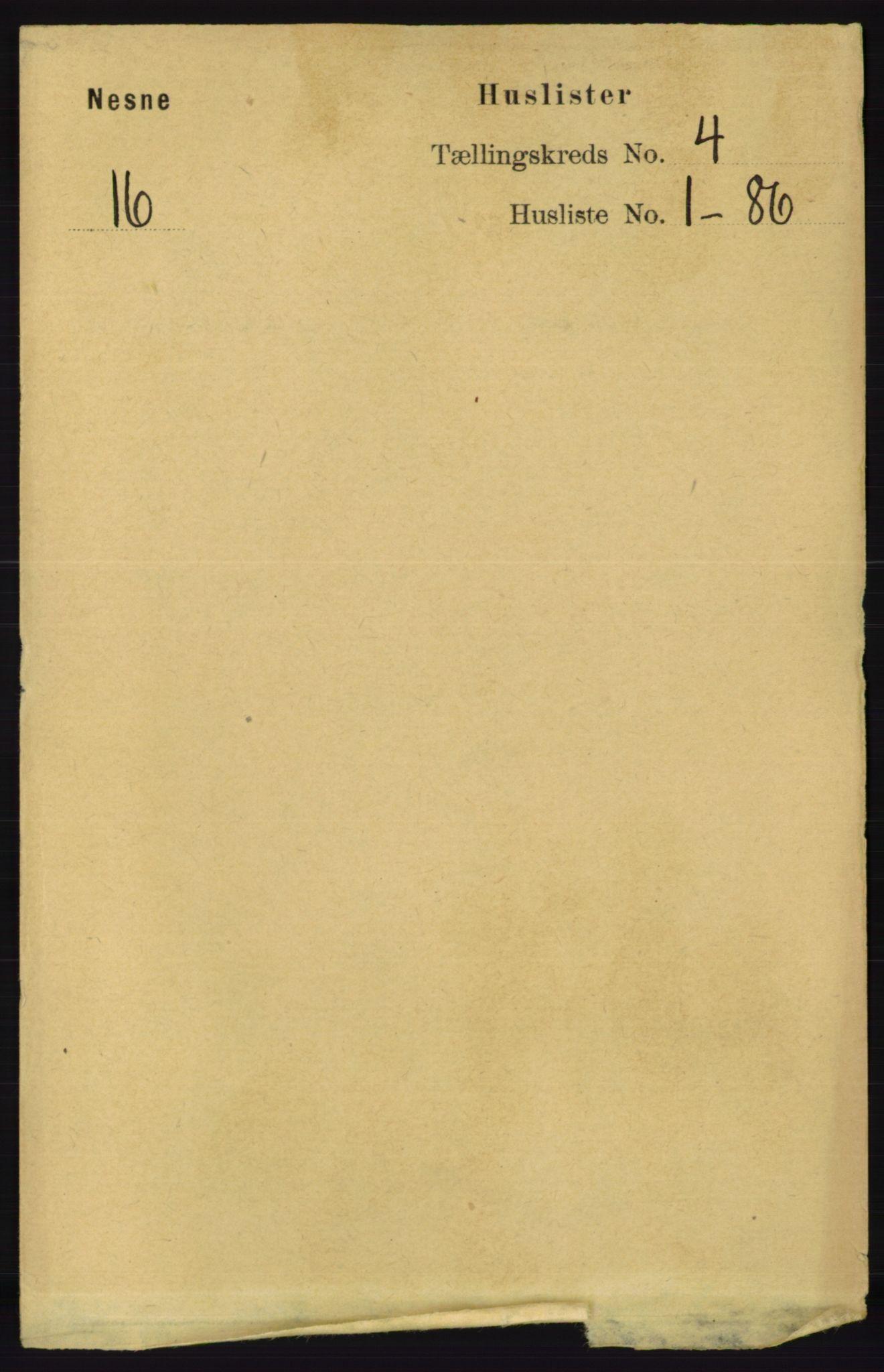 RA, Folketelling 1891 for 1828 Nesna herred, 1891, s. 2086