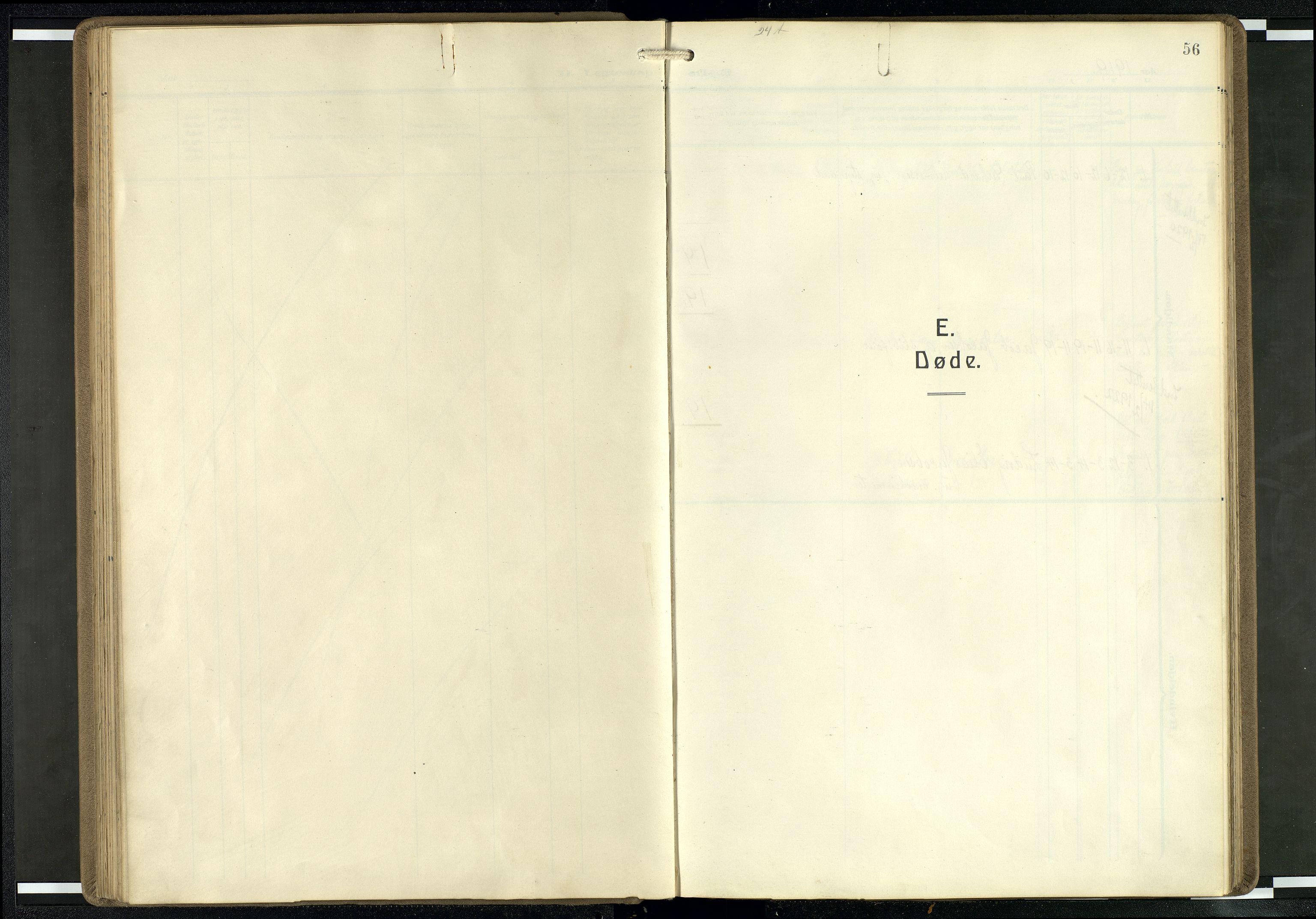 SAB, Privatarkiv 104 - Den norske sjømannsmisjon i utlandet/Mersey-havnene (Liverpool), H/Ha/L0001: Ministerialbok nr. A 1, 1919-1954, s. 55b-56a