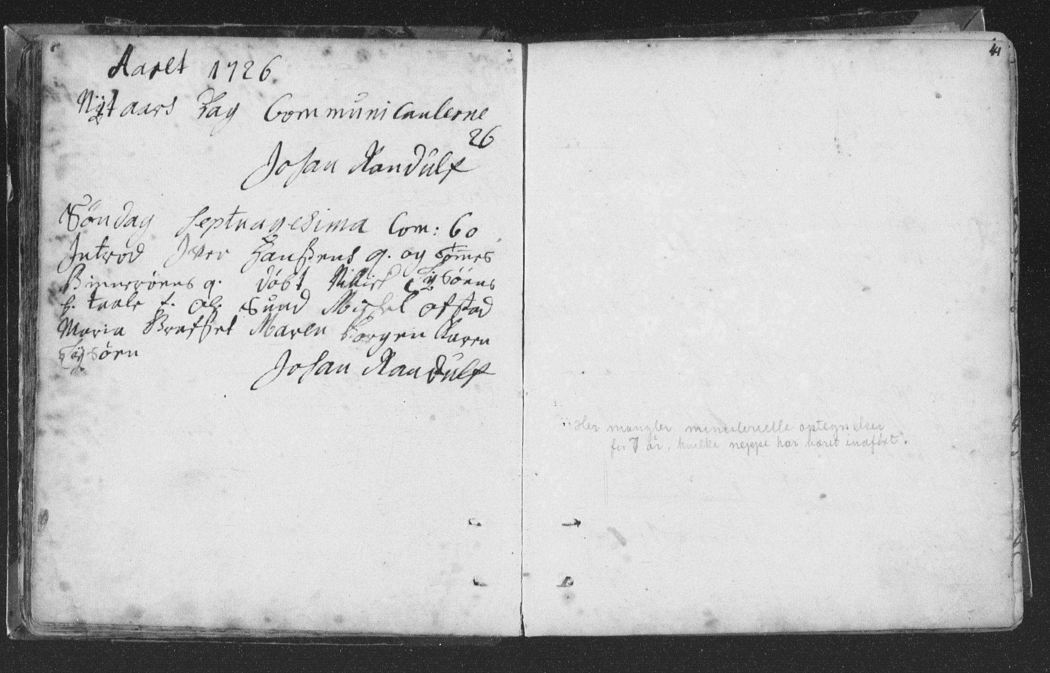 SAT, Ministerialprotokoller, klokkerbøker og fødselsregistre - Nord-Trøndelag, 786/L0685: Ministerialbok nr. 786A01, 1710-1798, s. 41