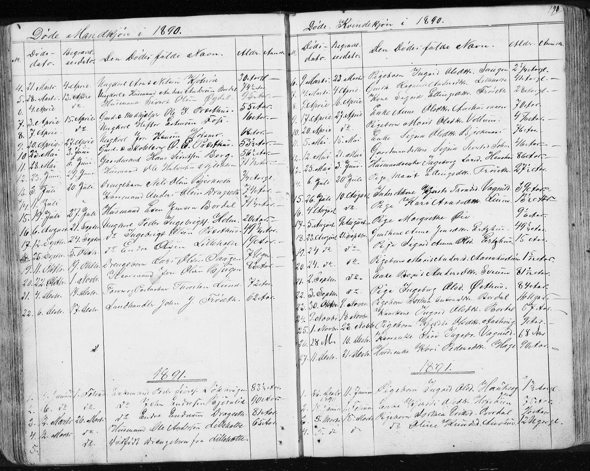 SAT, Ministerialprotokoller, klokkerbøker og fødselsregistre - Sør-Trøndelag, 689/L1043: Klokkerbok nr. 689C02, 1816-1892, s. 198