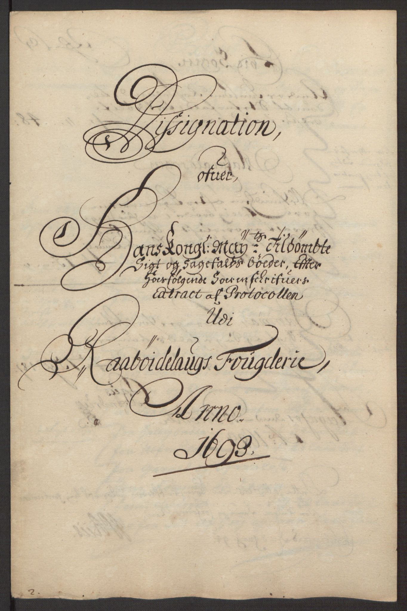 RA, Rentekammeret inntil 1814, Reviderte regnskaper, Fogderegnskap, R40/L2444: Fogderegnskap Råbyggelag, 1693-1696, s. 22