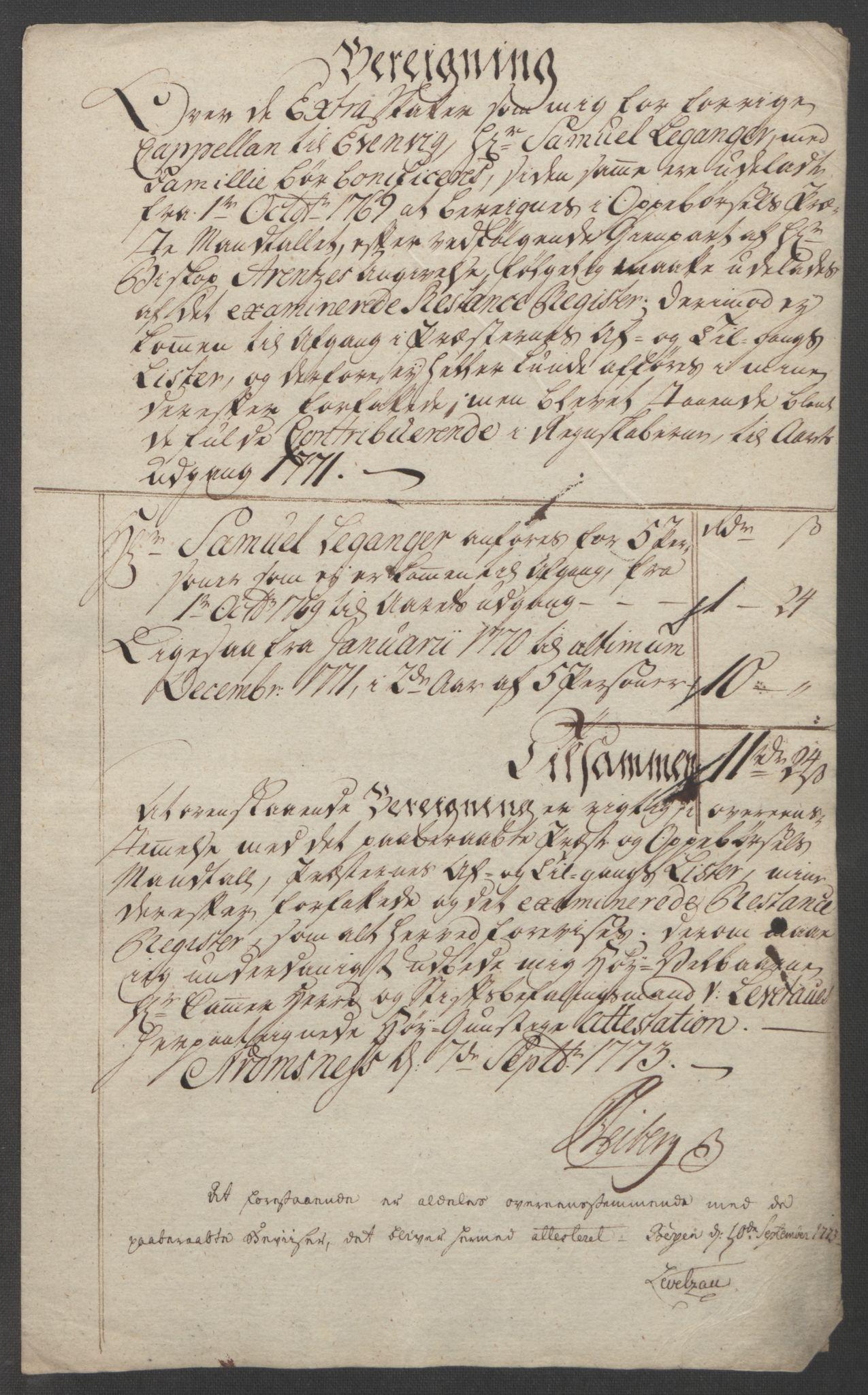RA, Rentekammeret inntil 1814, Reviderte regnskaper, Fogderegnskap, R51/L3303: Ekstraskatten Nordhordland og Voss, 1762-1772, s. 682