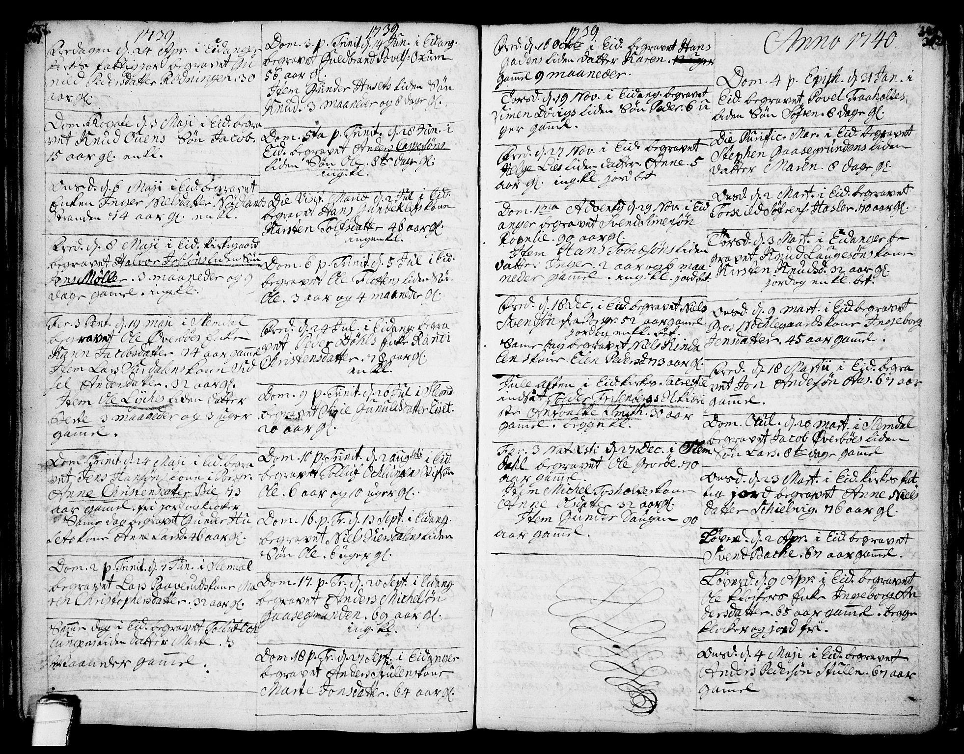 SAKO, Eidanger kirkebøker, F/Fa/L0004: Ministerialbok nr. 4, 1733-1759, s. 301-302