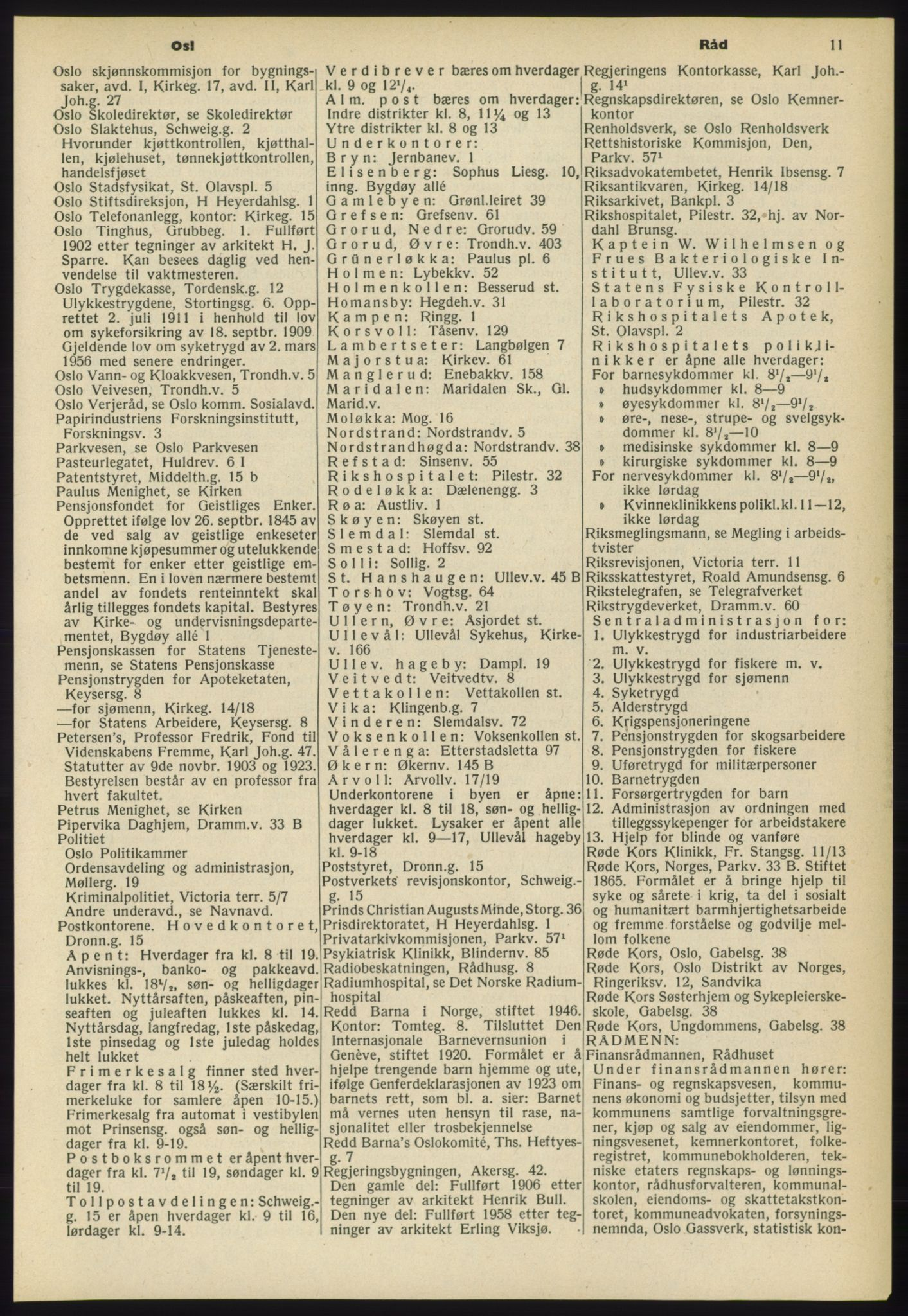 RA, Oslo adressebok (publikasjon)*, 1960-1961, s. 11