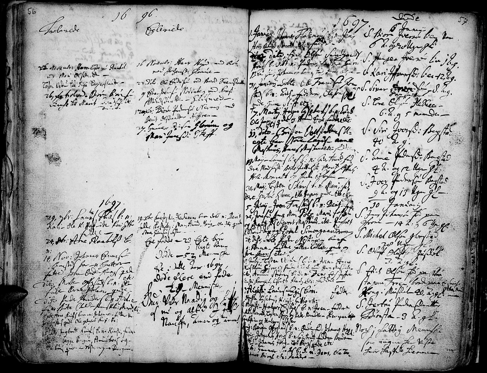 SAH, Øyer prestekontor, Ministerialbok nr. 1, 1671-1727, s. 56-57