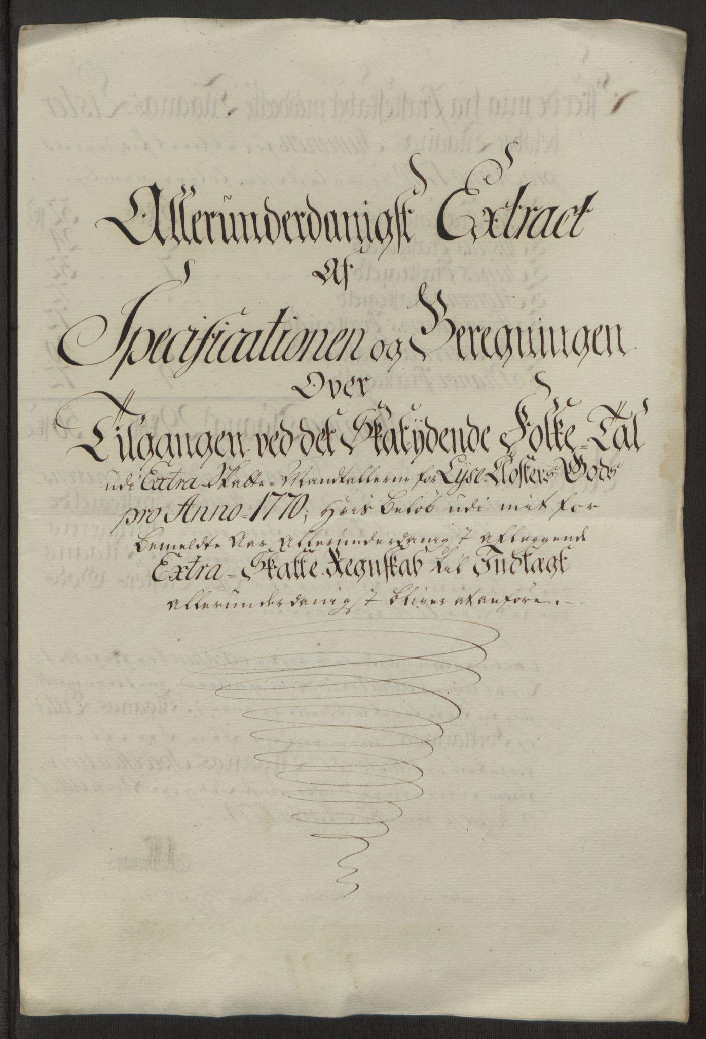 RA, Rentekammeret inntil 1814, Reviderte regnskaper, Fogderegnskap, R50/L3180: Ekstraskatten Lyse kloster, 1762-1783, s. 238