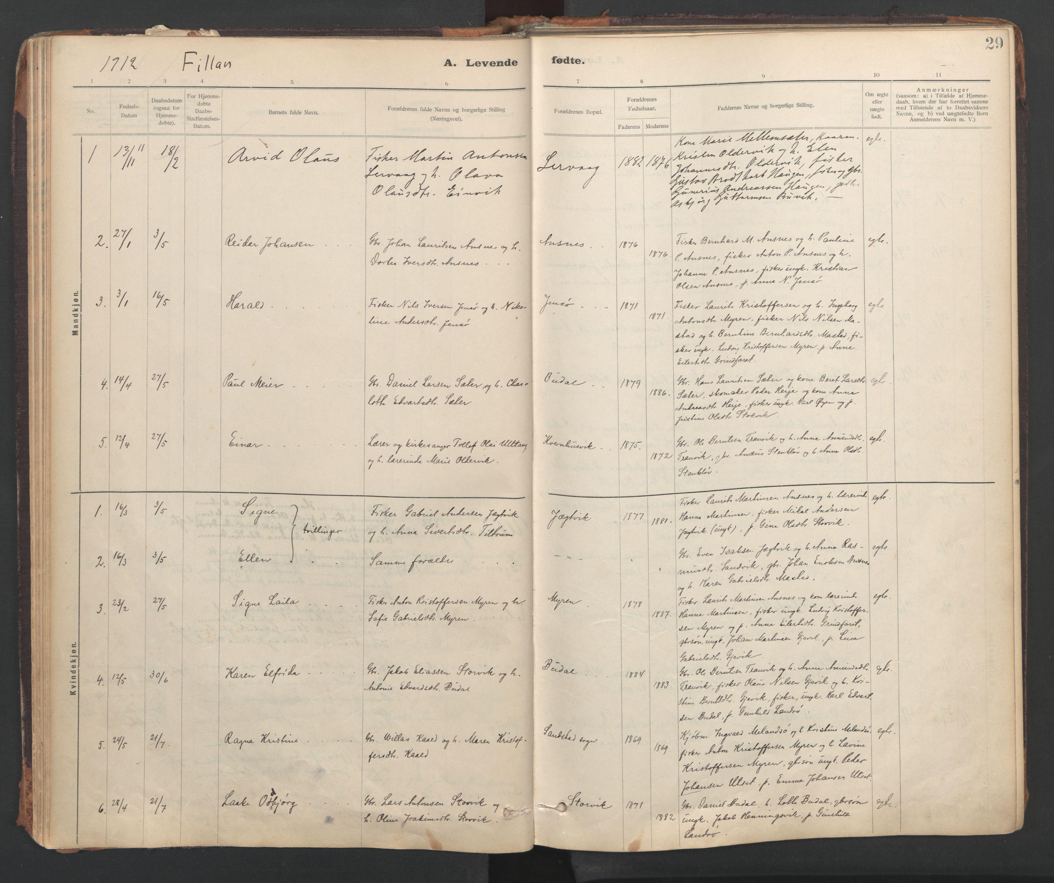 SAT, Ministerialprotokoller, klokkerbøker og fødselsregistre - Sør-Trøndelag, 637/L0559: Ministerialbok nr. 637A02, 1899-1923, s. 29