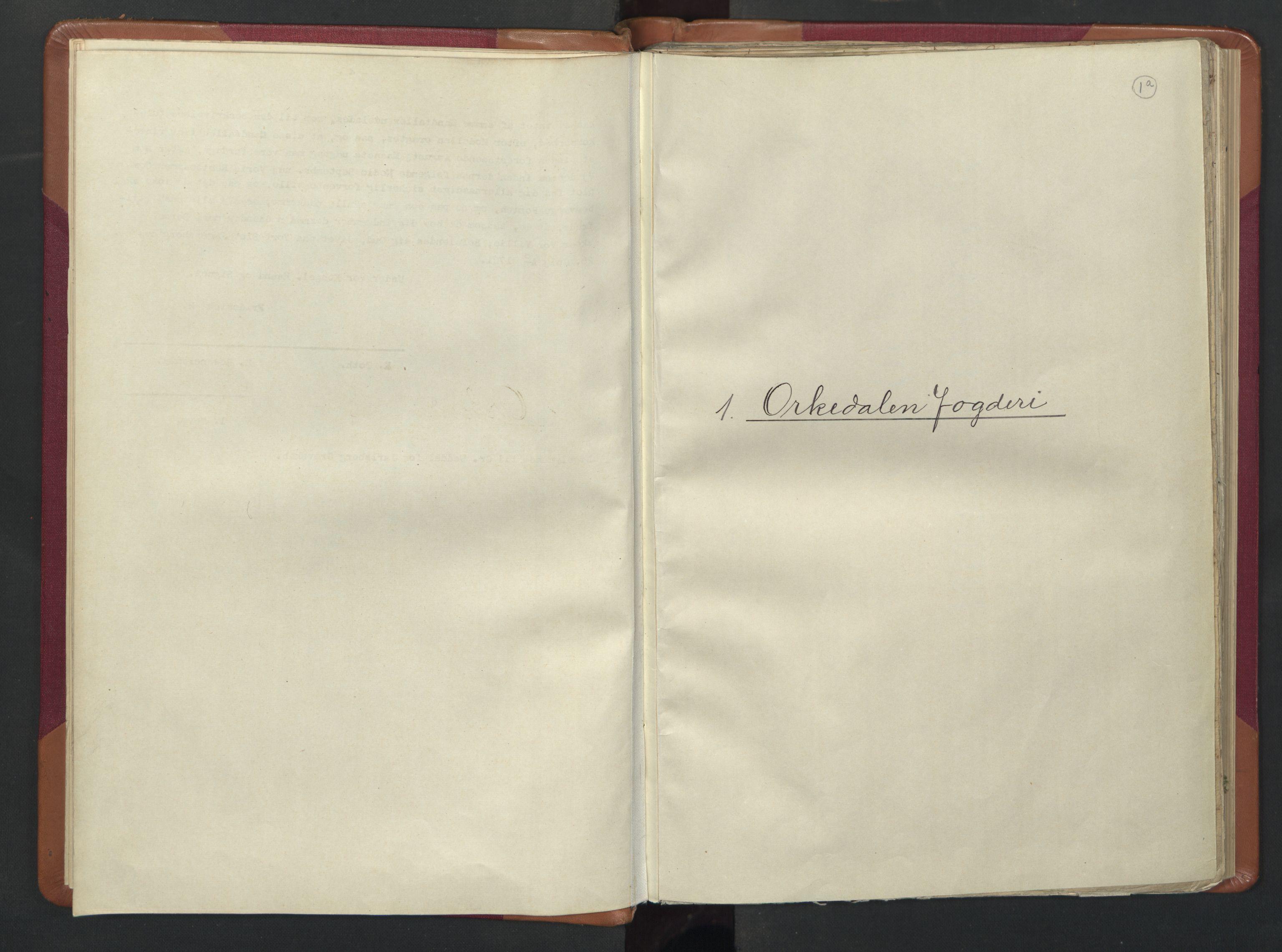 RA, Manntallet 1701, nr. 13: Orkdal fogderi og Gauldal fogderi med Røros kobberverk, 1701, s. 1a