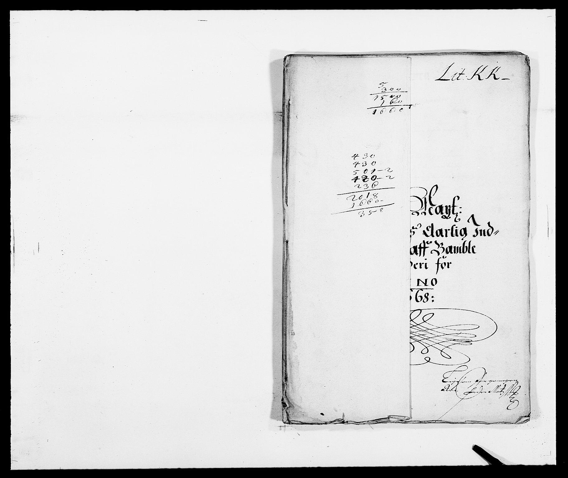 RA, Rentekammeret inntil 1814, Reviderte regnskaper, Fogderegnskap, R34/L2040: Fogderegnskap Bamble, 1662-1669, s. 89