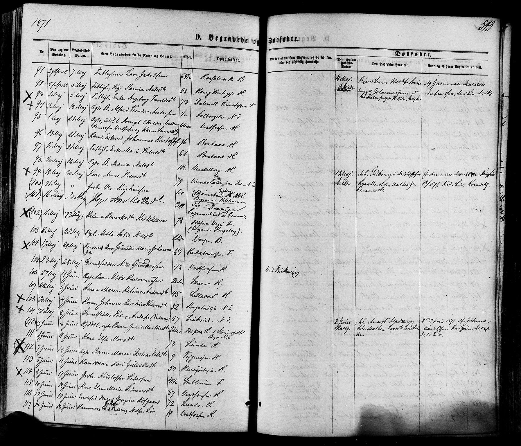 SAKO, Eiker kirkebøker, F/Fa/L0017: Ministerialbok nr. I 17, 1869-1877, s. 543