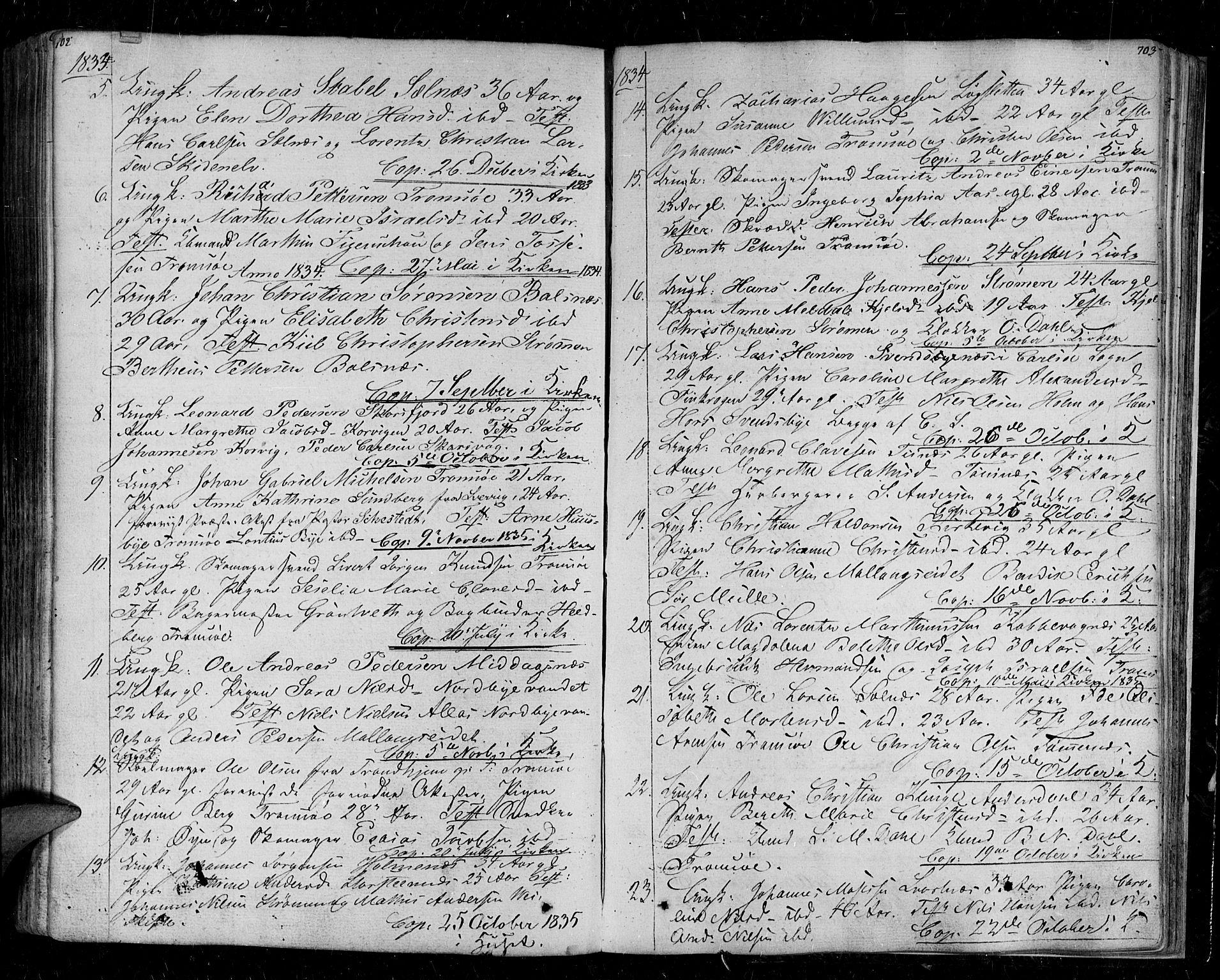 SATØ, Tromsø sokneprestkontor/stiftsprosti/domprosti, G/Ga/L0008kirke: Ministerialbok nr. 8, 1829-1837, s. 702-703