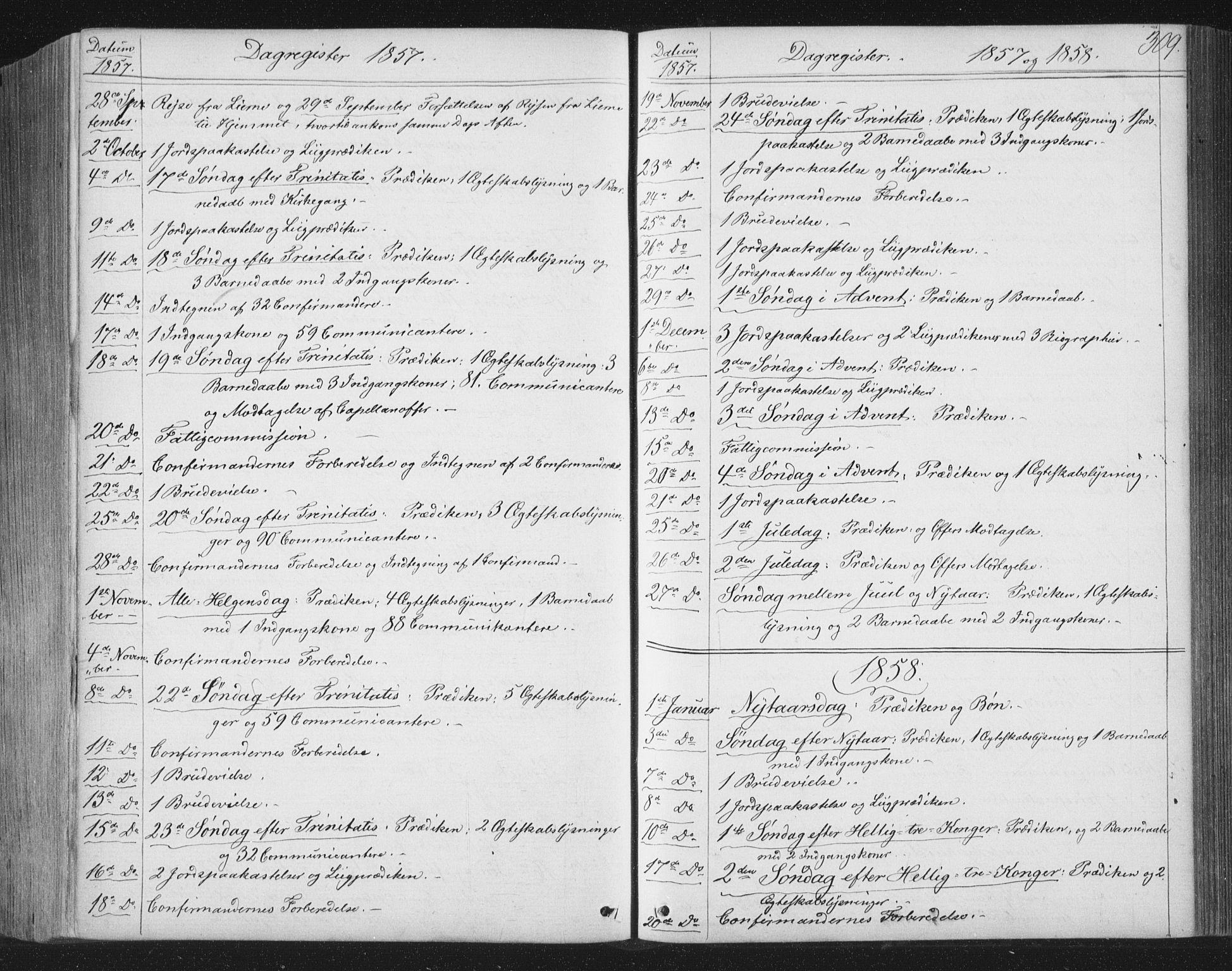 SAT, Ministerialprotokoller, klokkerbøker og fødselsregistre - Nord-Trøndelag, 749/L0472: Ministerialbok nr. 749A06, 1857-1873, s. 309