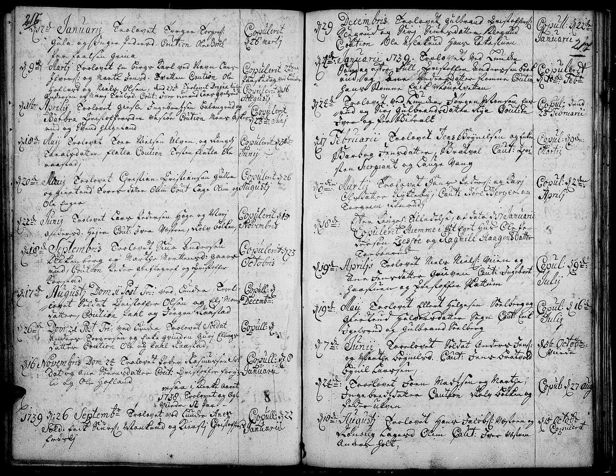 SAH, Jevnaker prestekontor, Ministerialbok nr. 2, 1725-1751, s. 216-217