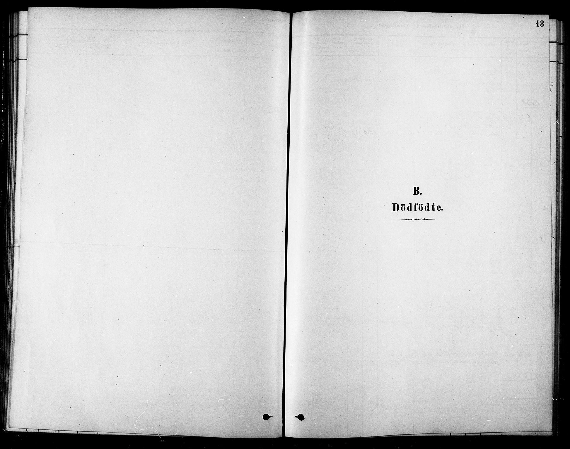 SAT, Ministerialprotokoller, klokkerbøker og fødselsregistre - Sør-Trøndelag, 685/L0972: Ministerialbok nr. 685A09, 1879-1890, s. 43