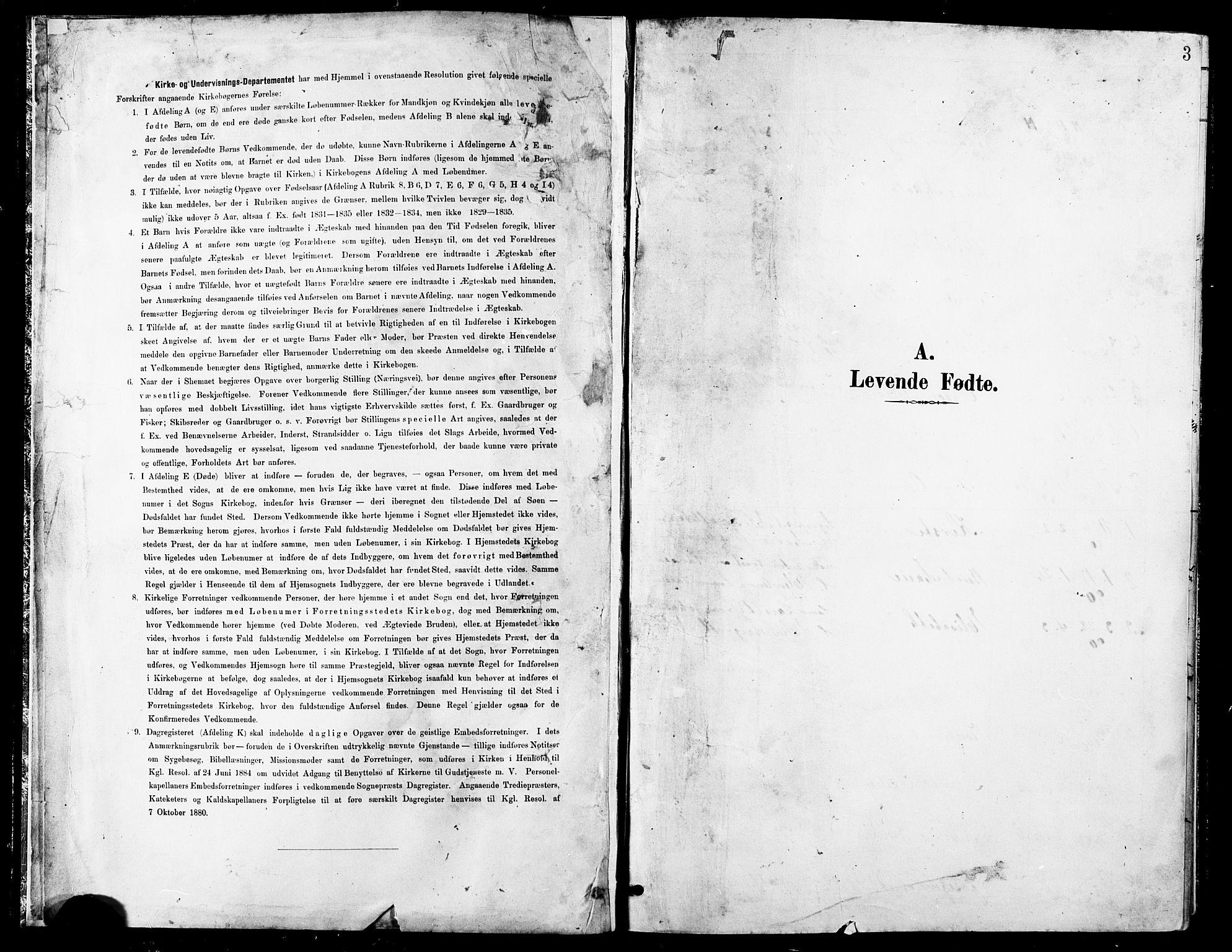 SATØ, Balsfjord sokneprestembete, Klokkerbok nr. 8, 1890-1906, s. 3