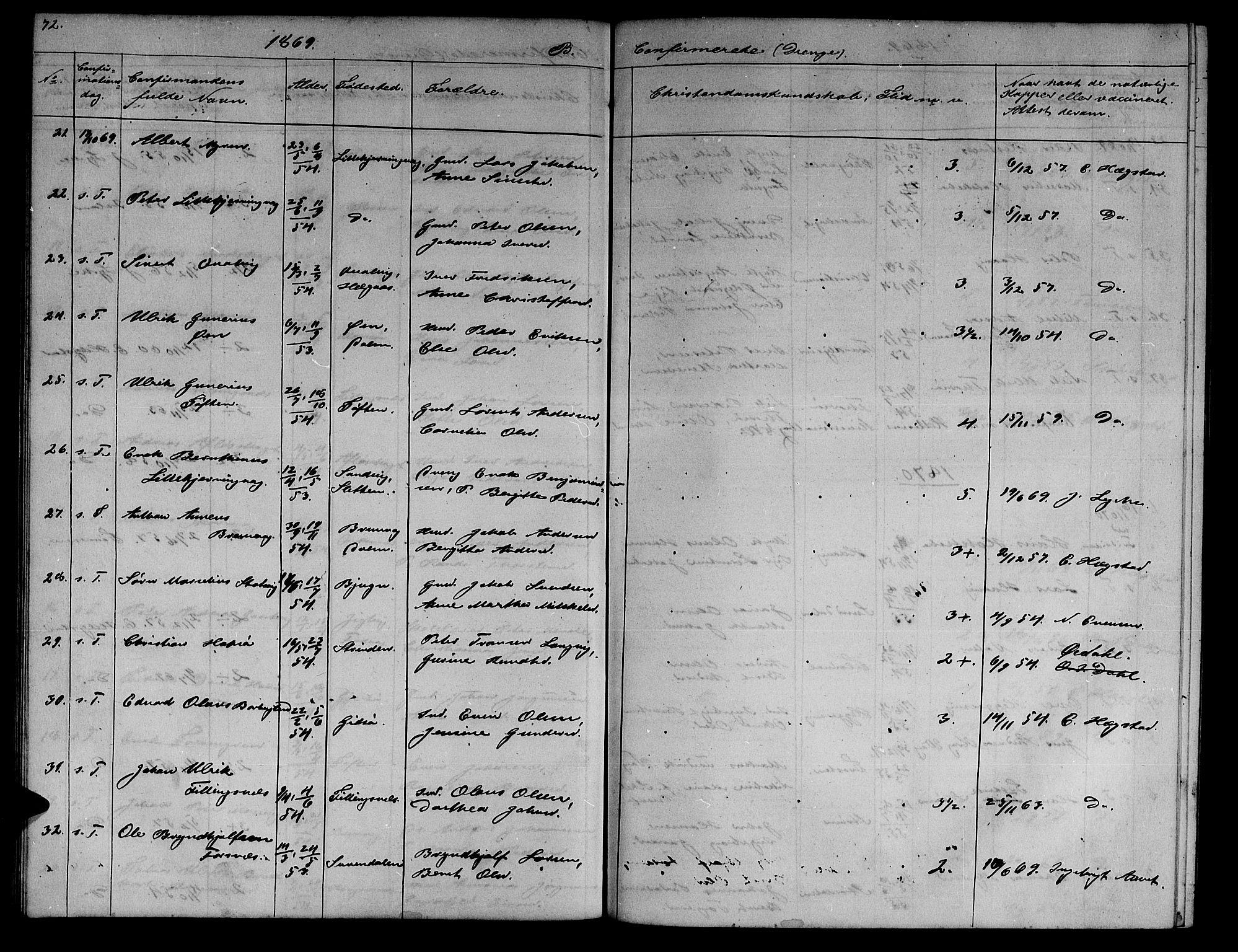 SAT, Ministerialprotokoller, klokkerbøker og fødselsregistre - Sør-Trøndelag, 634/L0539: Klokkerbok nr. 634C01, 1866-1873, s. 72