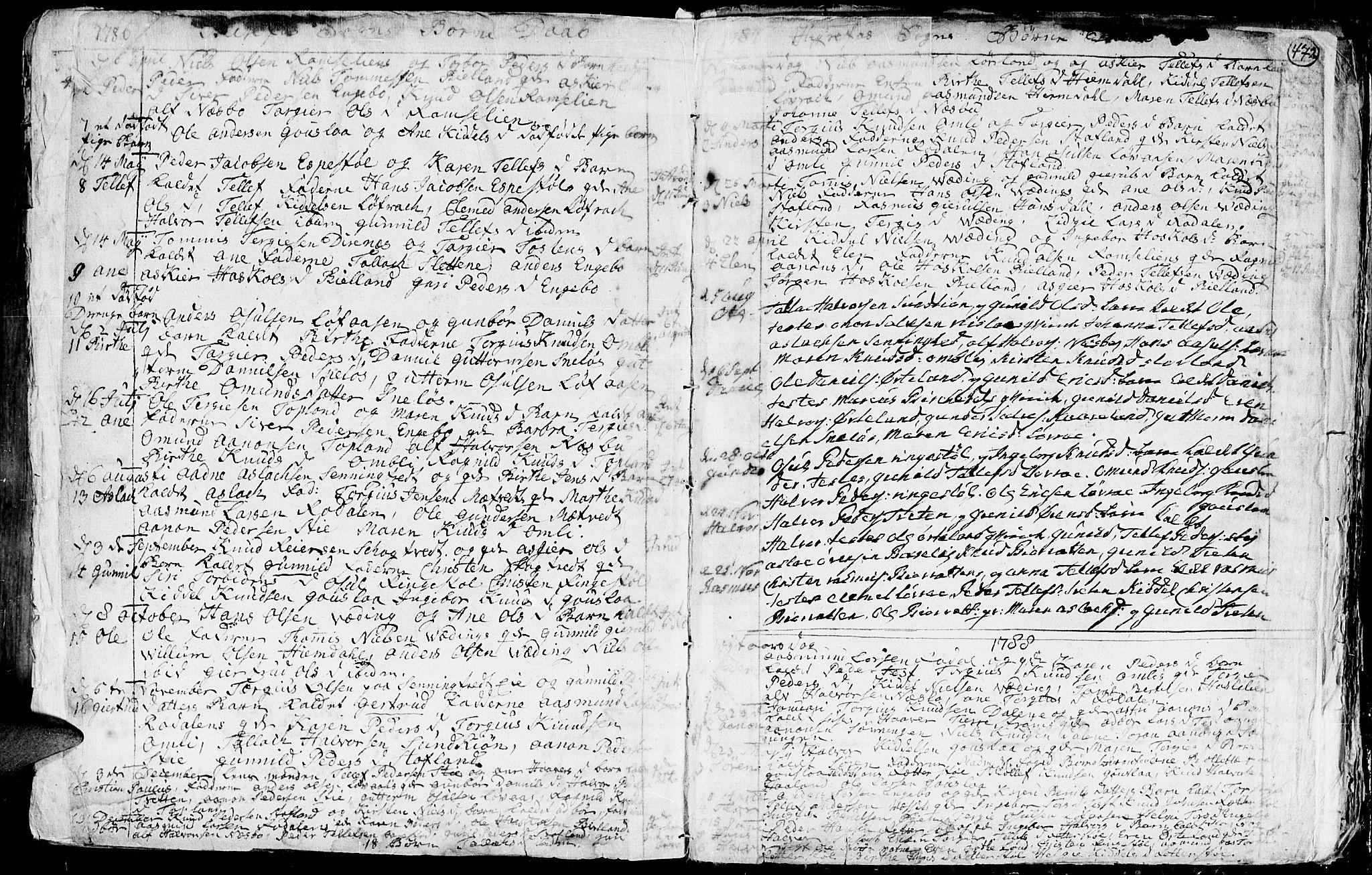 SAK, Hommedal sokneprestkontor, F/Fa/Fab/L0002: Ministerialbok nr. A 2 /3, 1740-1821, s. 472