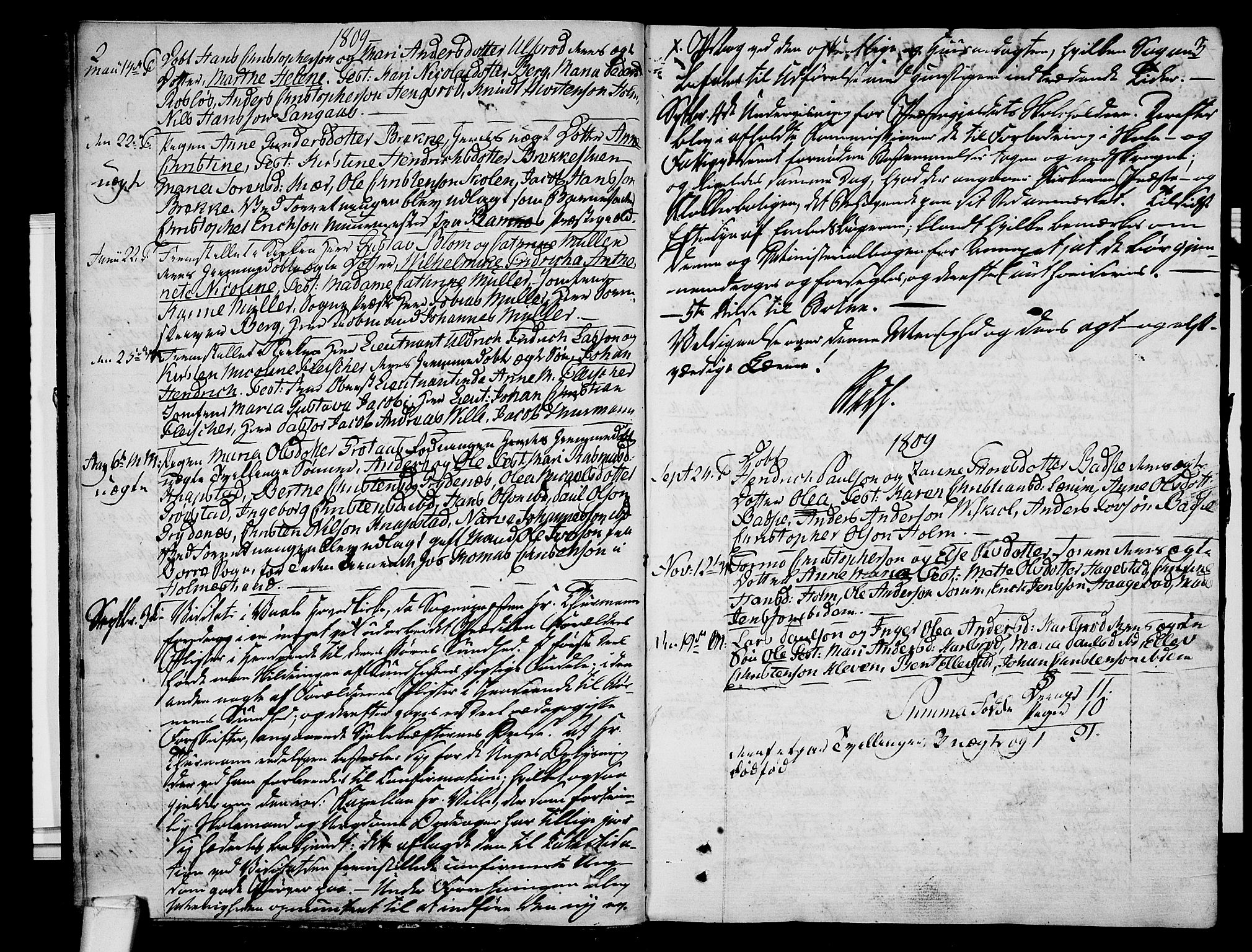 SAKO, Våle kirkebøker, F/Fa/L0006: Ministerialbok nr. I 6, 1808-1814, s. 2-3
