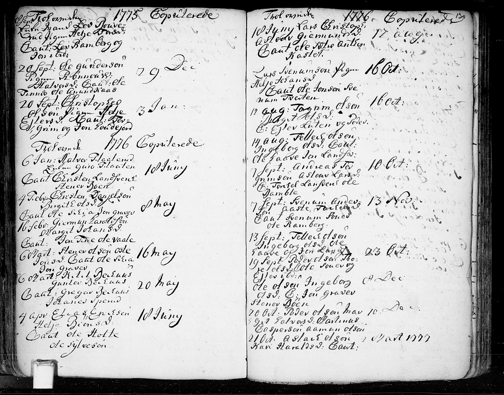 SAKO, Heddal kirkebøker, F/Fa/L0003: Ministerialbok nr. I 3, 1723-1783, s. 130