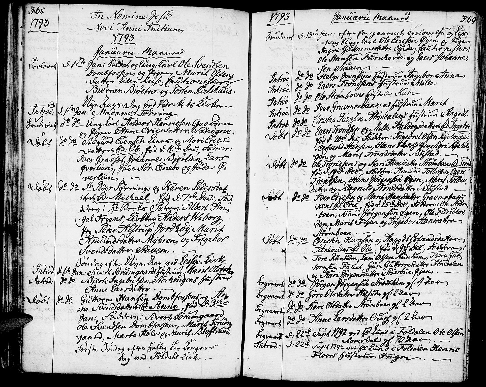SAH, Lesja prestekontor, Ministerialbok nr. 3, 1777-1819, s. 368-369
