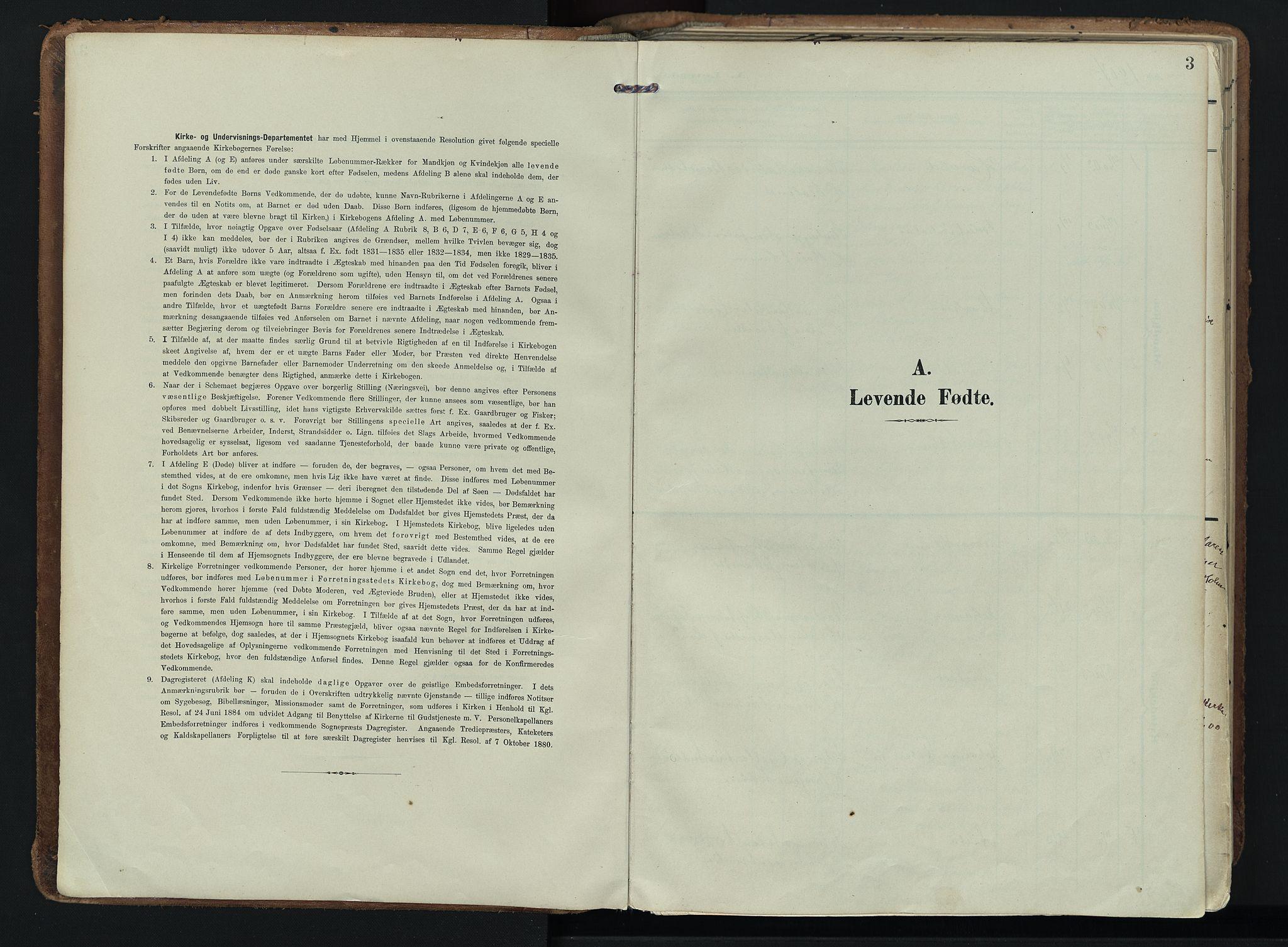 SAKO, Hedrum kirkebøker, F/Fa/L0010: Ministerialbok nr. I 10, 1904-1918, s. 3