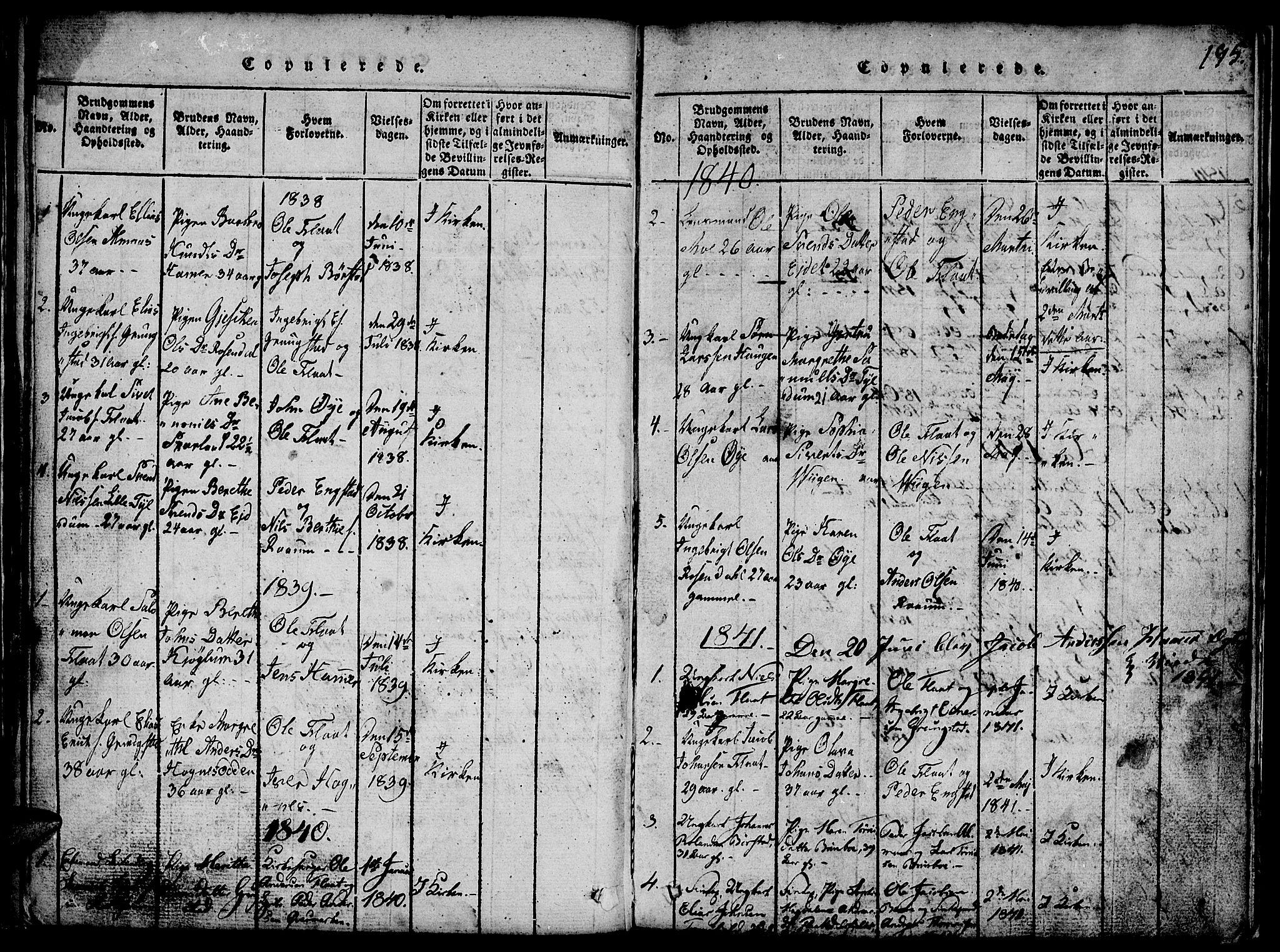 SAT, Ministerialprotokoller, klokkerbøker og fødselsregistre - Nord-Trøndelag, 765/L0562: Klokkerbok nr. 765C01, 1817-1851, s. 195