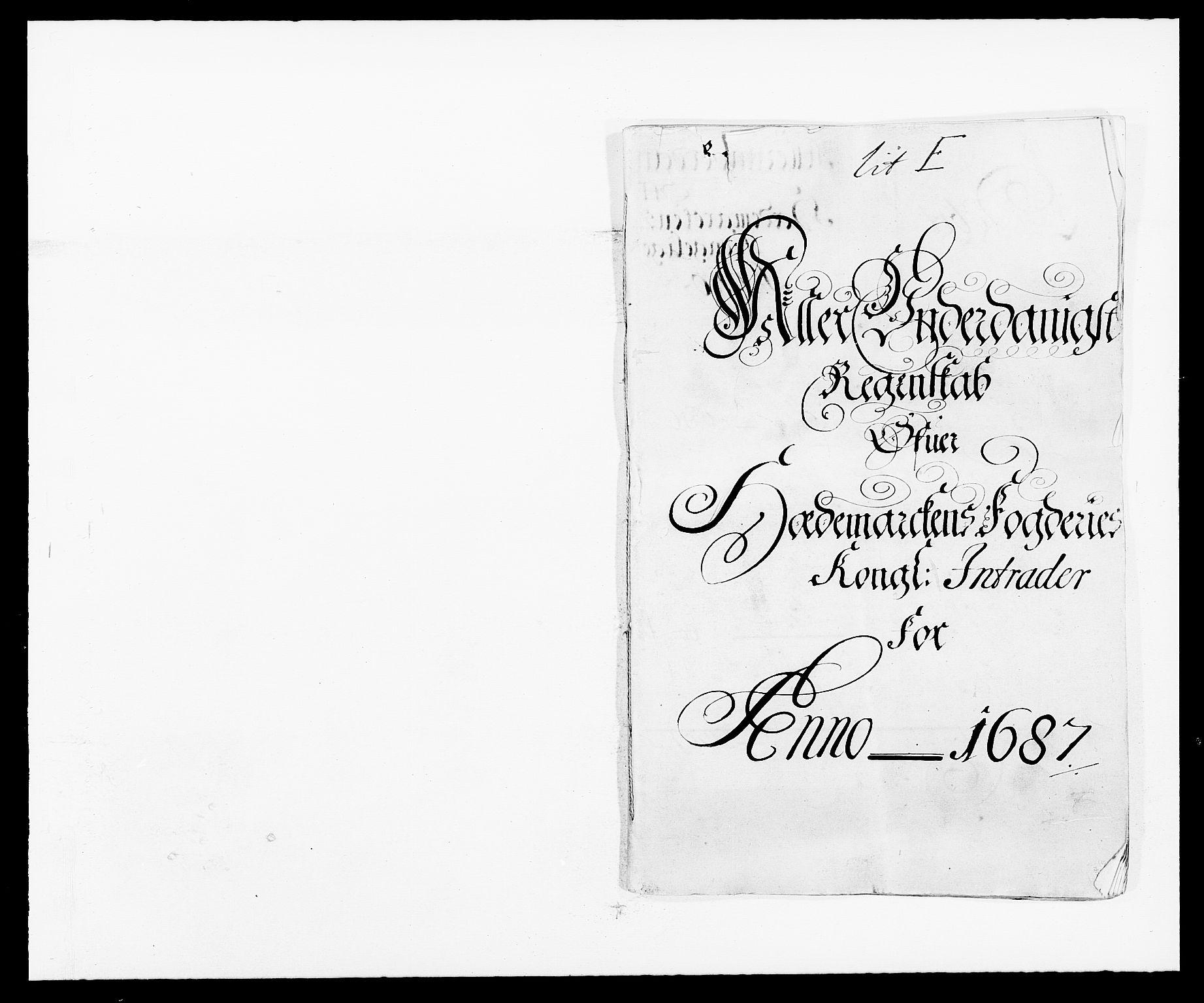RA, Rentekammeret inntil 1814, Reviderte regnskaper, Fogderegnskap, R16/L1028: Fogderegnskap Hedmark, 1687, s. 1