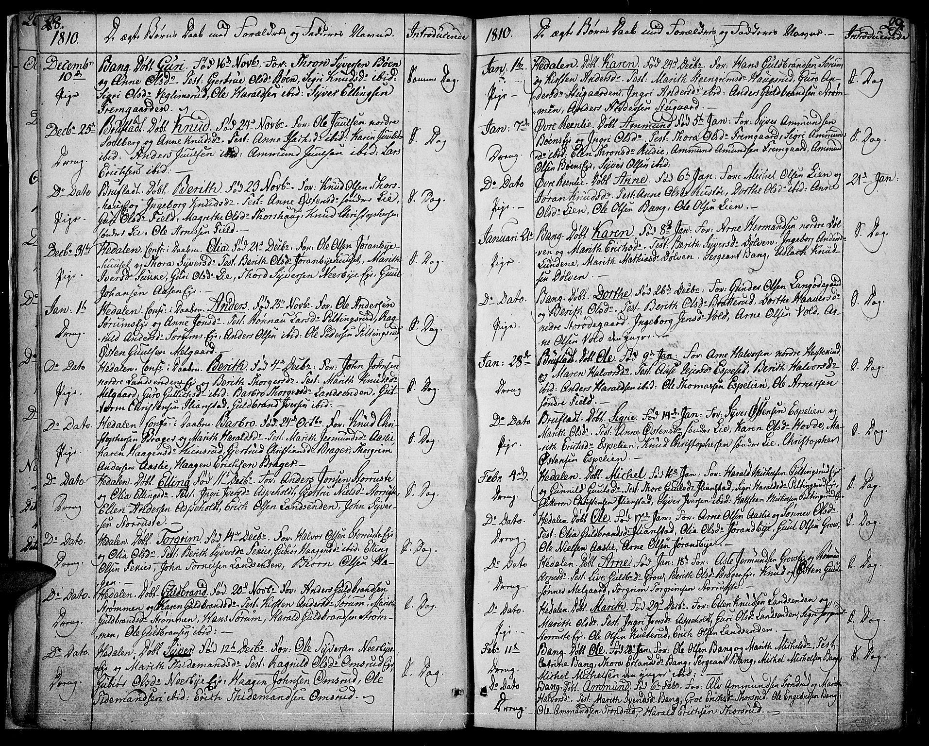 SAH, Sør-Aurdal prestekontor, Ministerialbok nr. 1, 1807-1815, s. 28-29