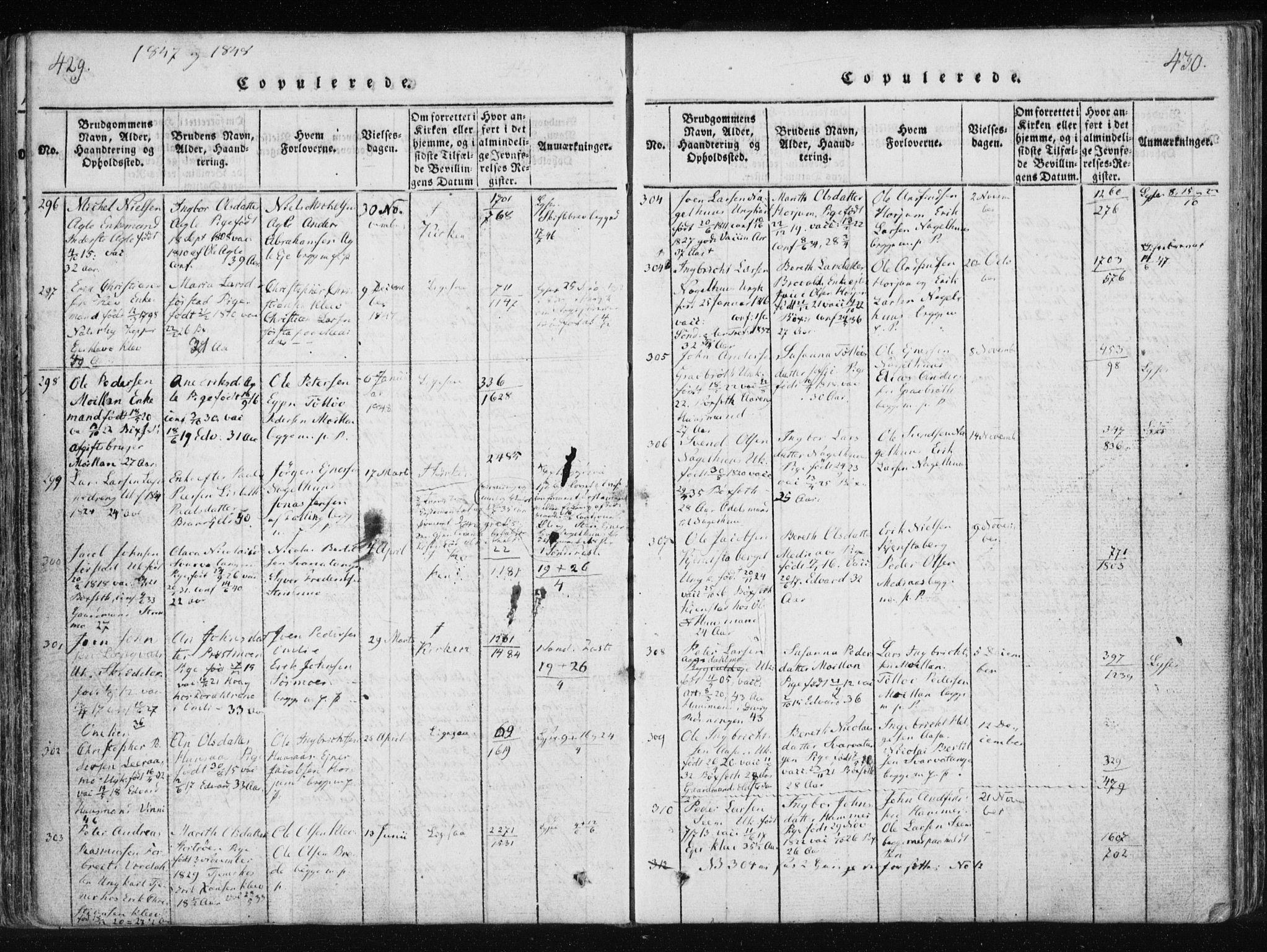 SAT, Ministerialprotokoller, klokkerbøker og fødselsregistre - Nord-Trøndelag, 749/L0469: Ministerialbok nr. 749A03, 1817-1857, s. 429-430