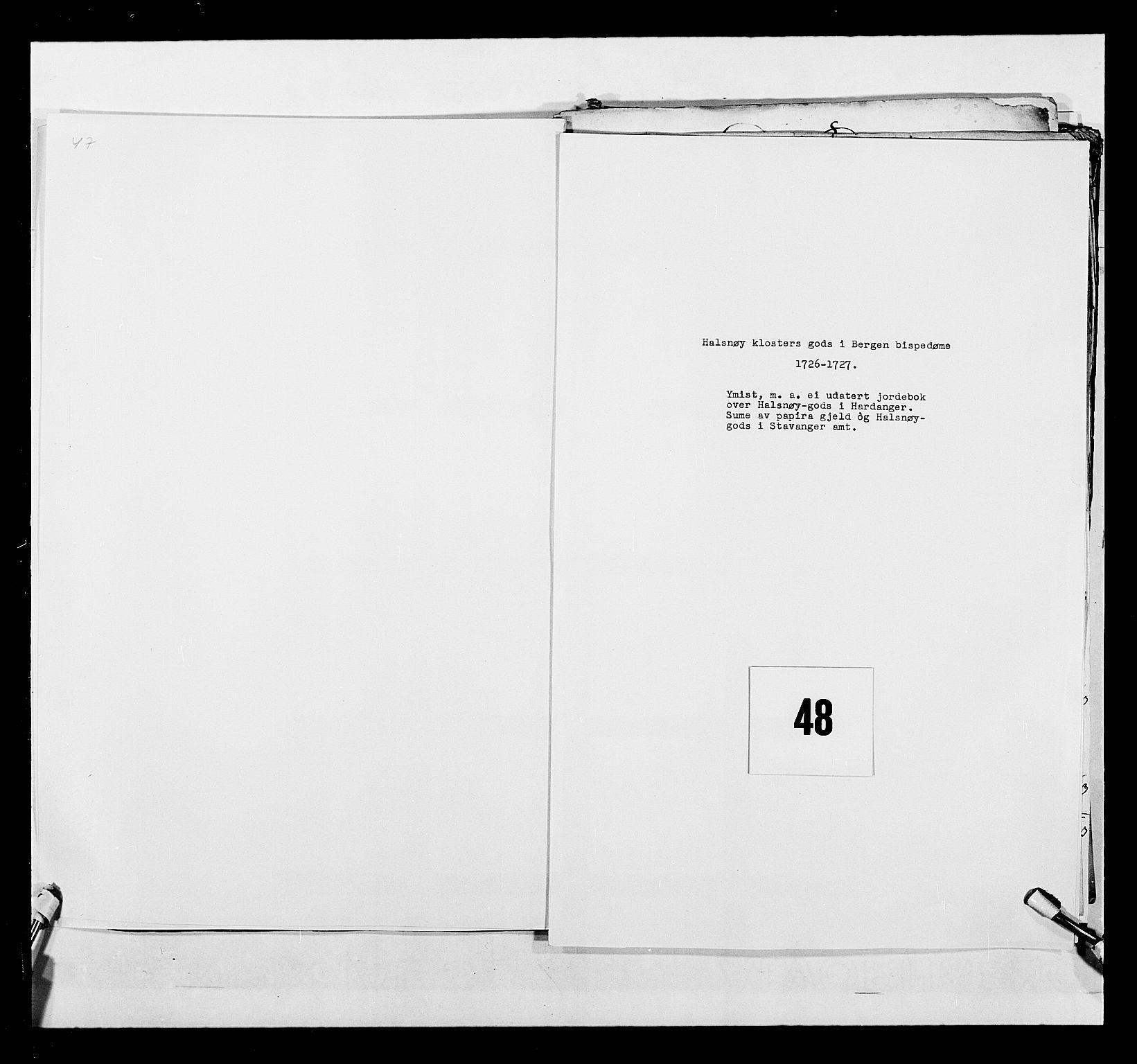 RA, Stattholderembetet 1572-1771, Ek/L0040: Jordebøker o.a. 1720-1728 vedkommende krongodset:, 1726-1728, s. 1