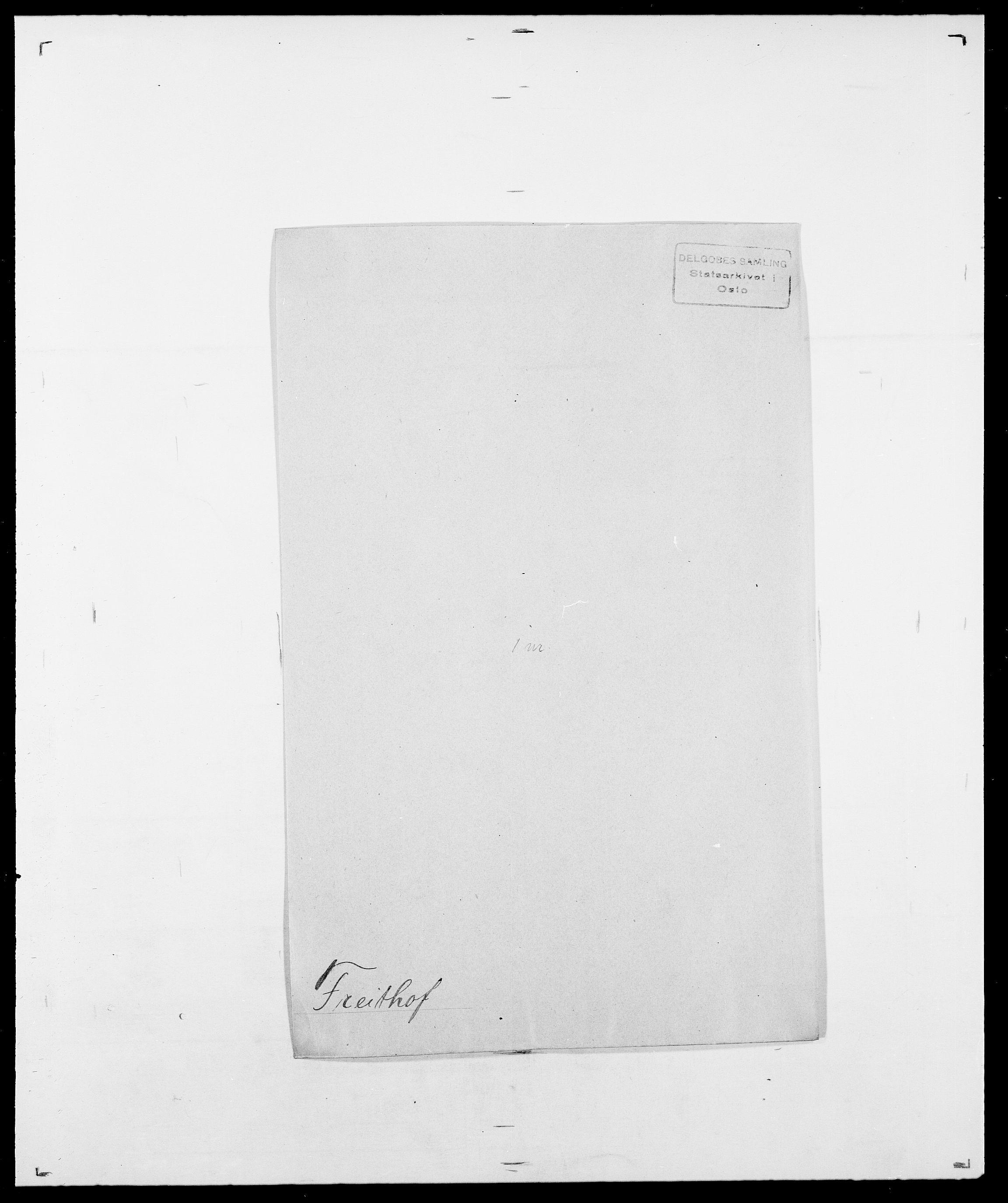 SAO, Delgobe, Charles Antoine - samling, D/Da/L0012: Flor, Floer, Flohr - Fritzner, s. 737