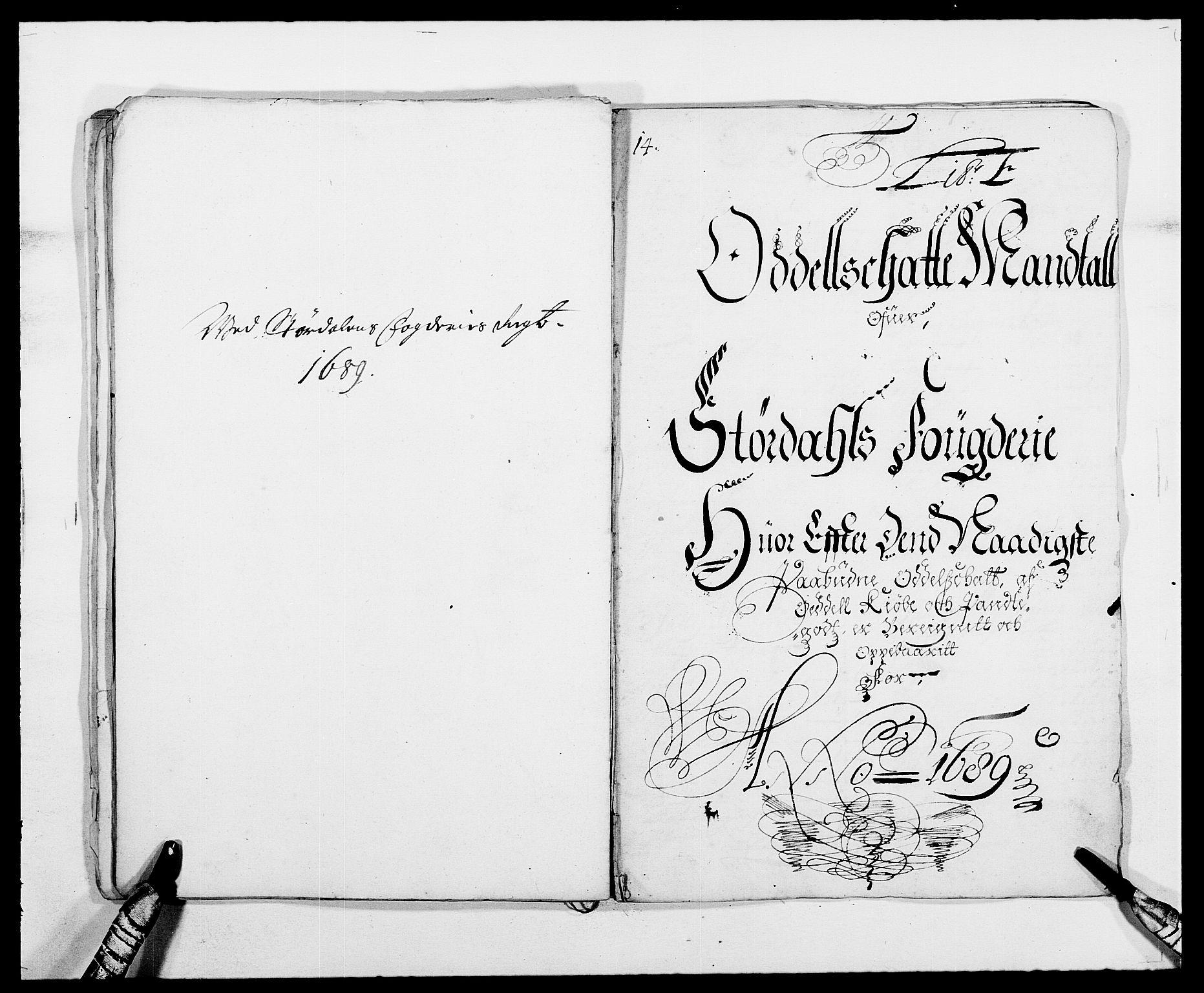 RA, Rentekammeret inntil 1814, Reviderte regnskaper, Fogderegnskap, R62/L4183: Fogderegnskap Stjørdal og Verdal, 1687-1689, s. 330