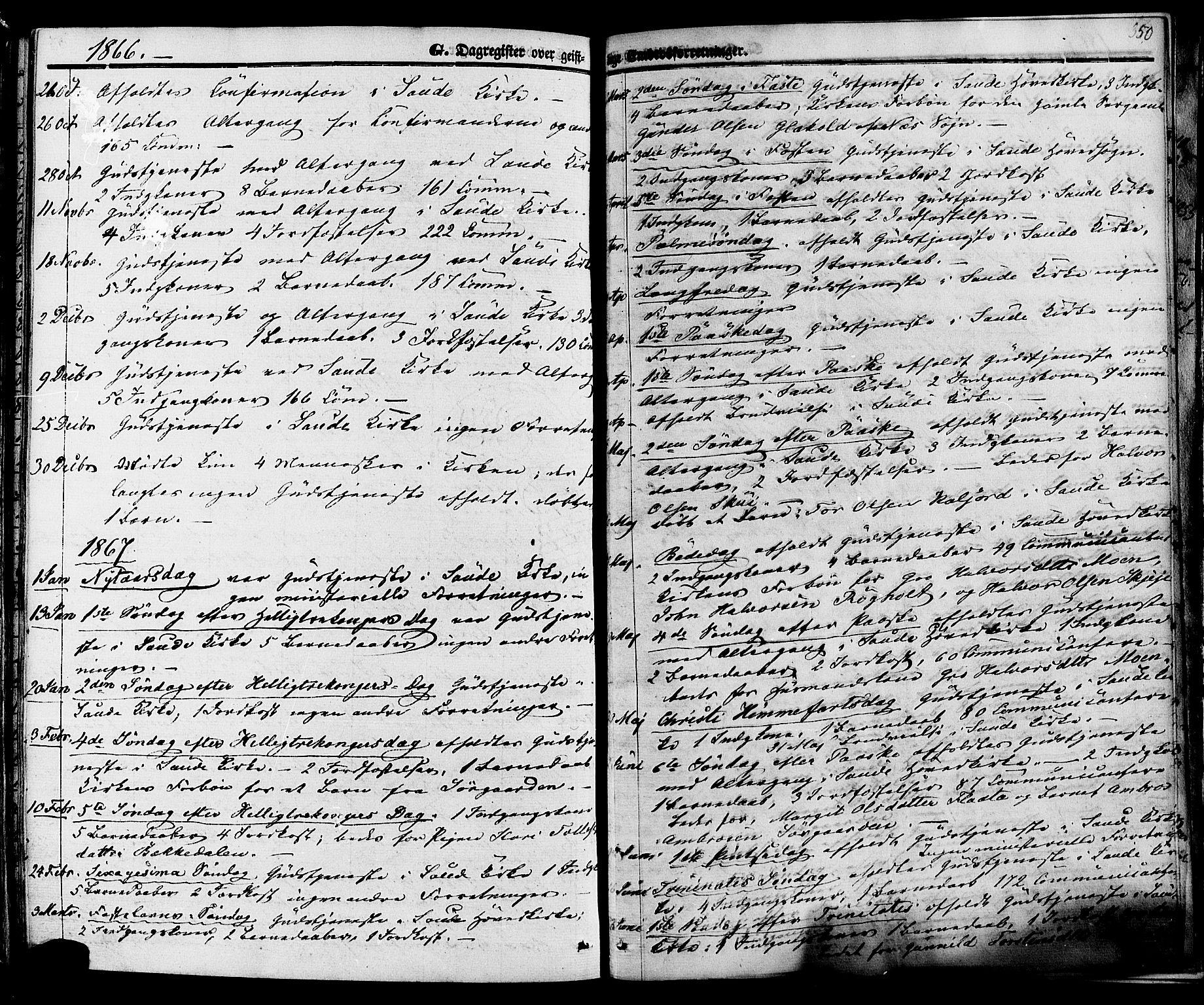 SAKO, Sauherad kirkebøker, F/Fa/L0007: Ministerialbok nr. I 7, 1851-1873, s. 350