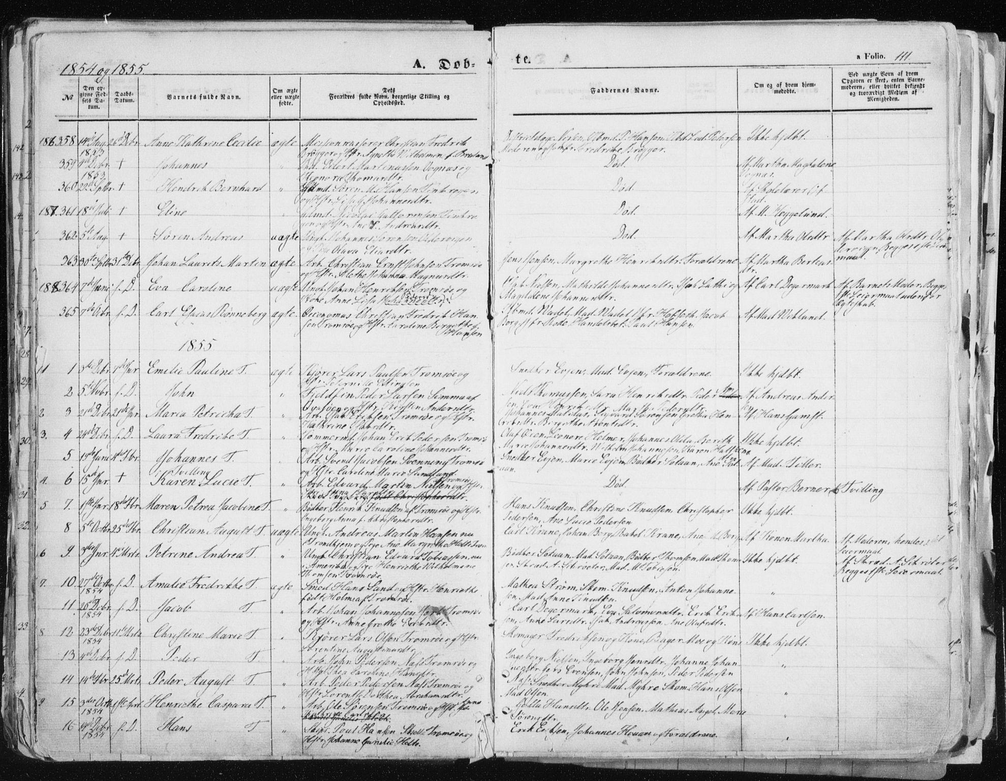 SATØ, Tromsø sokneprestkontor/stiftsprosti/domprosti, G/Ga/L0010kirke: Ministerialbok nr. 10, 1848-1855, s. 111